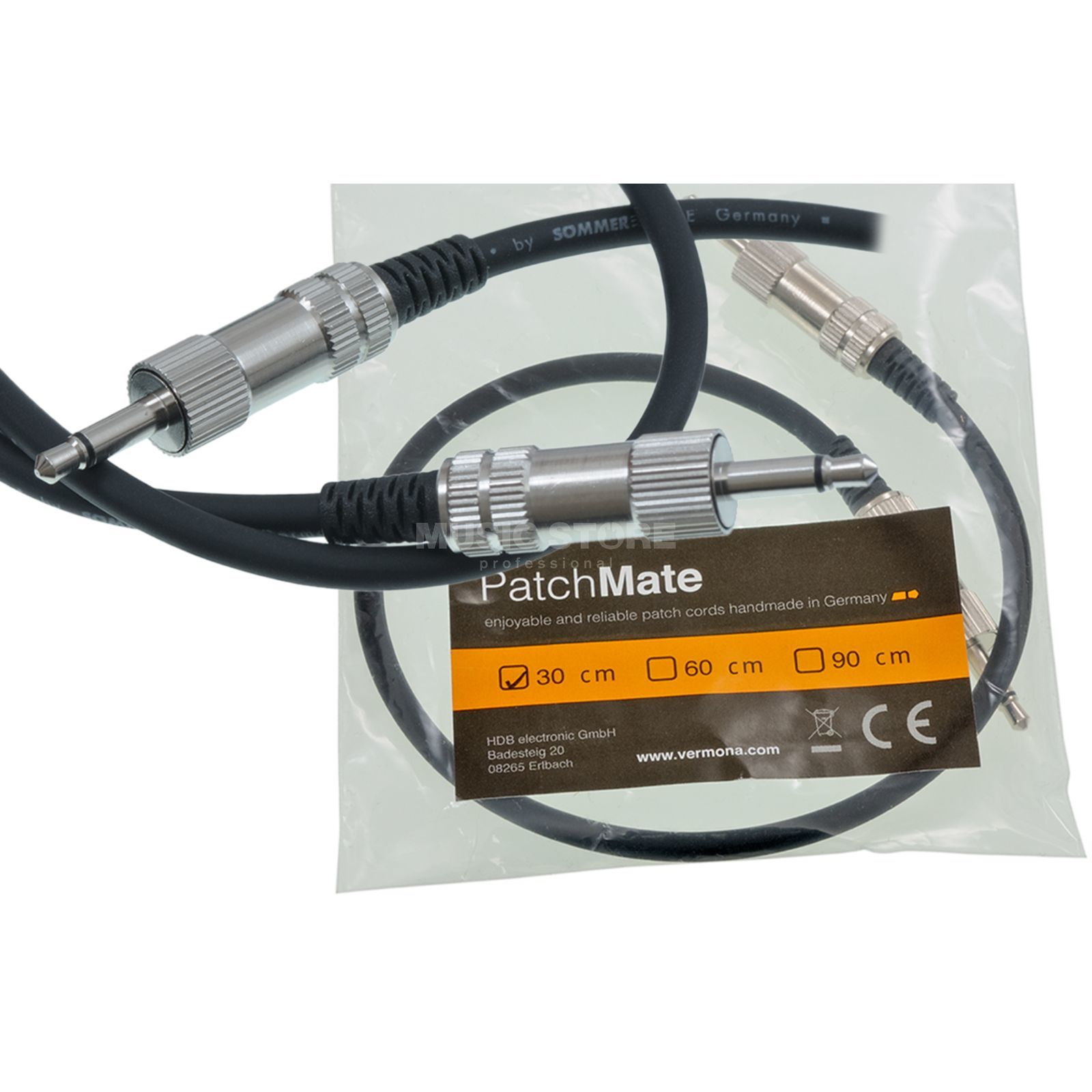 Vermona Modulear Patchmate Cable 30cm deluxe patchcable Produktbillede