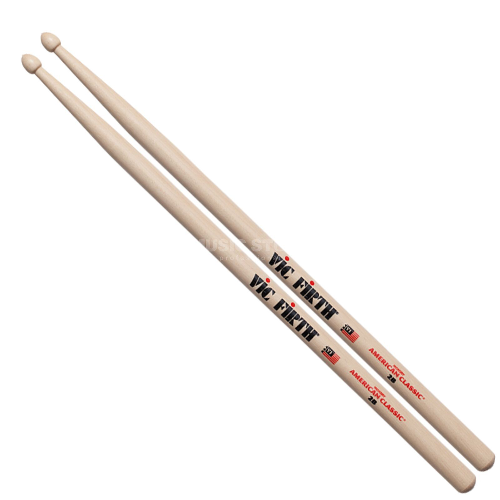 Vic-Firth 2B Sticks, American Classic, Wood Tip Produktbillede