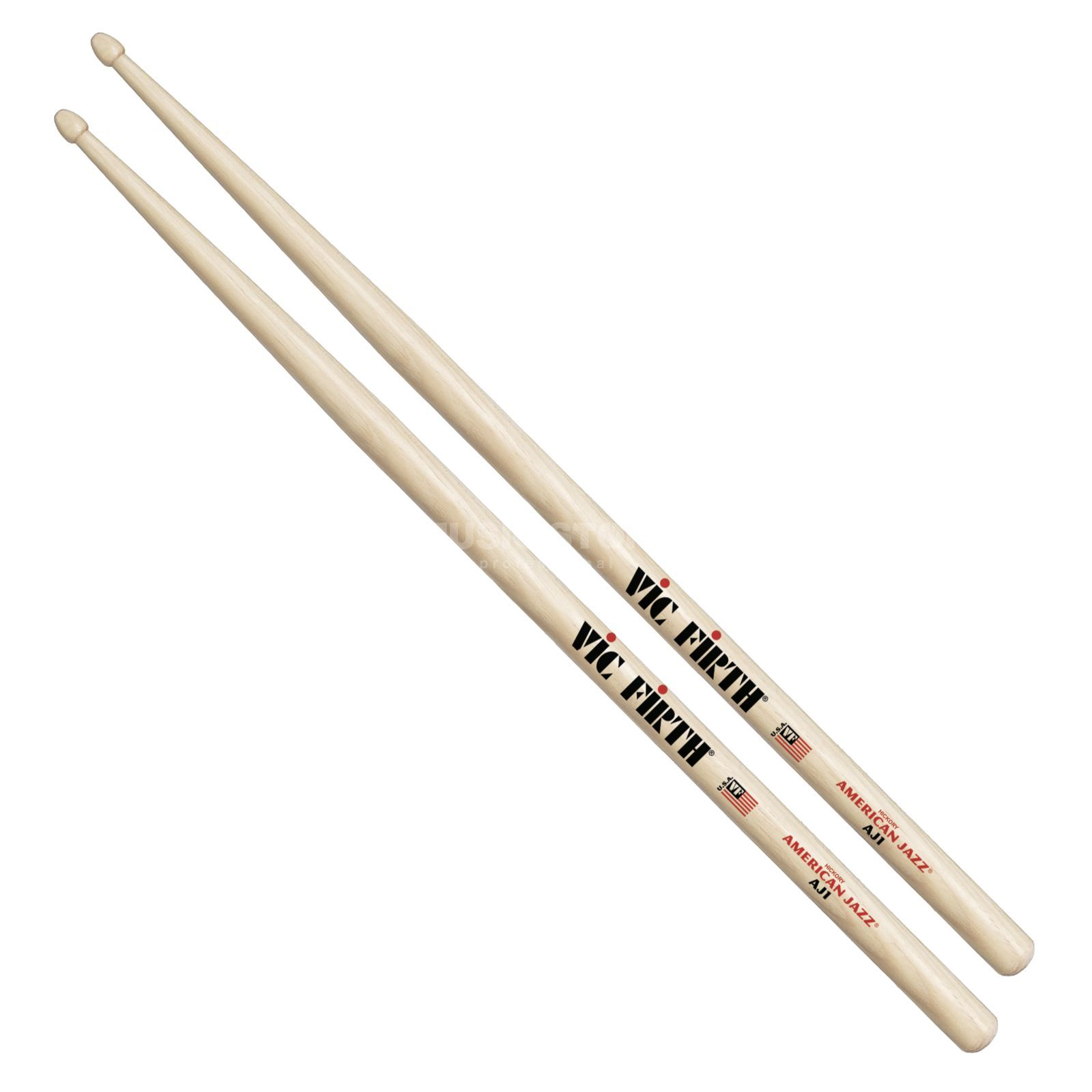 Vic-Firth AJ1 Sticks, American Jazz, Wood Tip Product Image