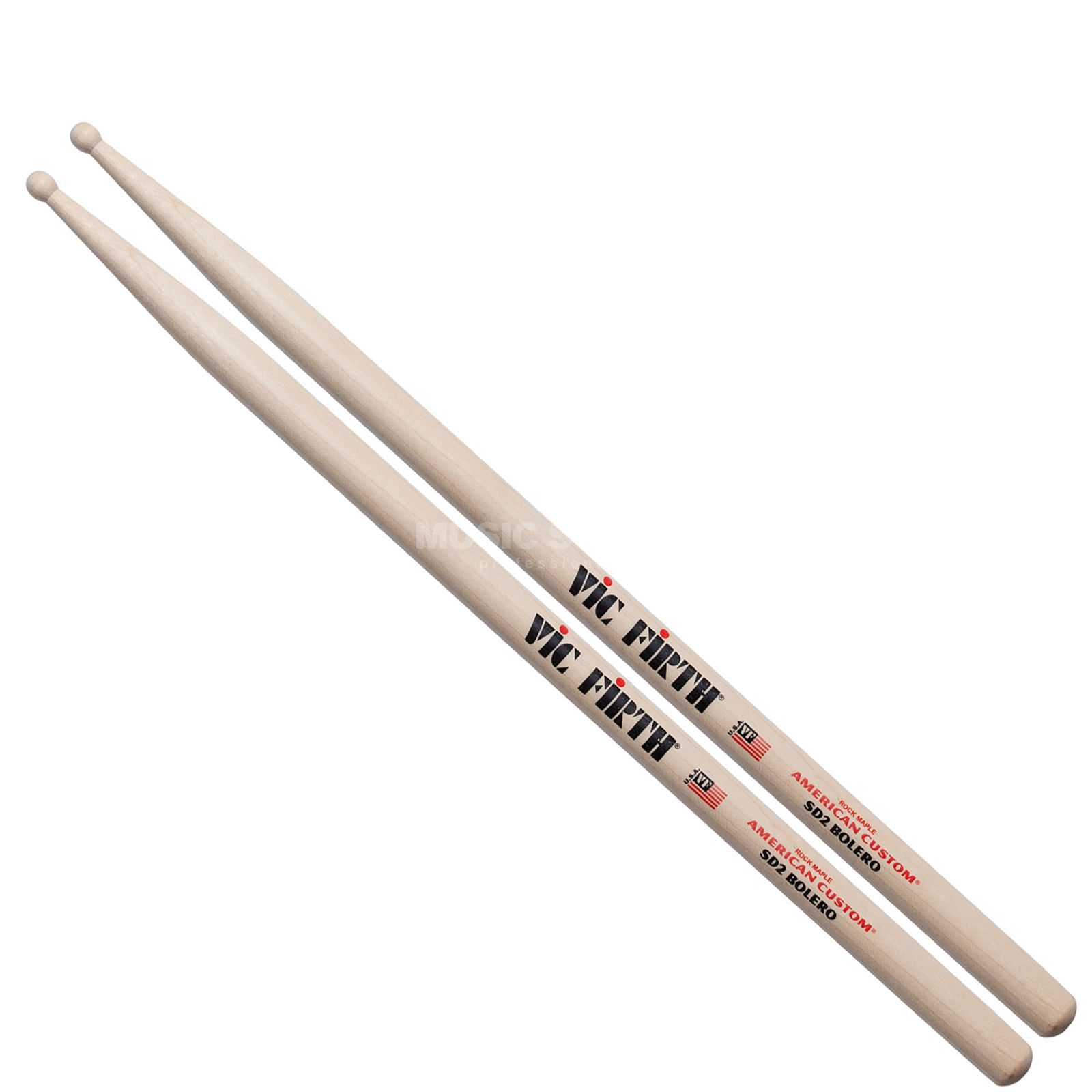 Vic-Firth SD2 Bolero Sticks, American Custom, Wood Tip Produktbild