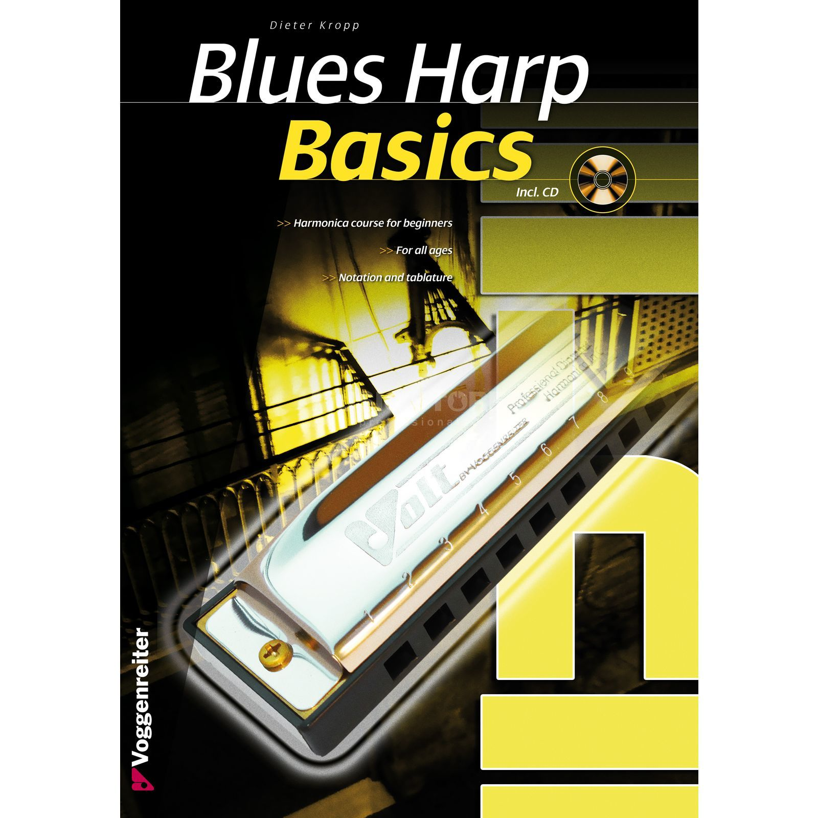 Voggenreiter Blues Harp Basics ENGLISH Dieter Kropp, CD included Product Image