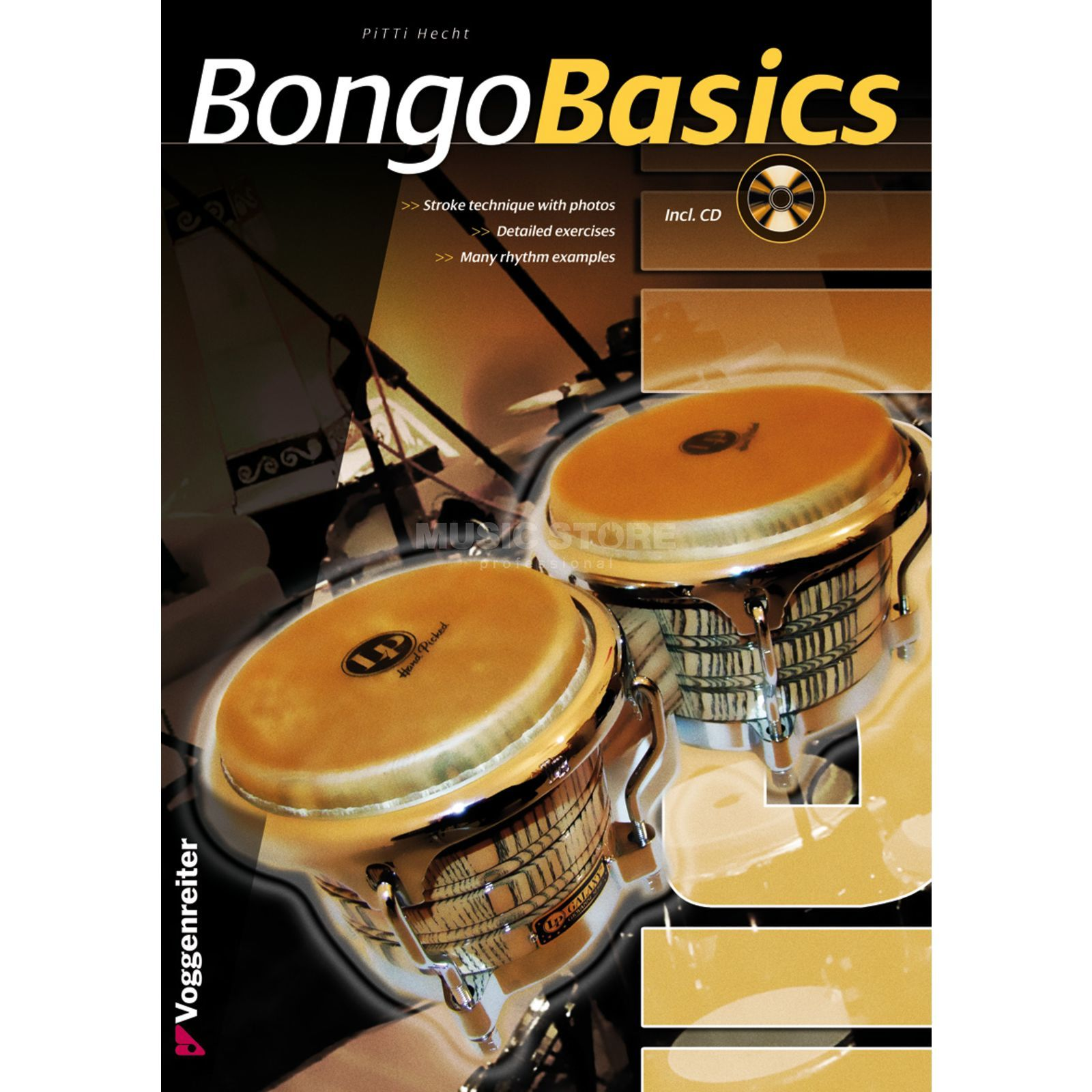 Voggenreiter Bongo Basics ENGLISH Pitti Hecht, CD included Produktbillede