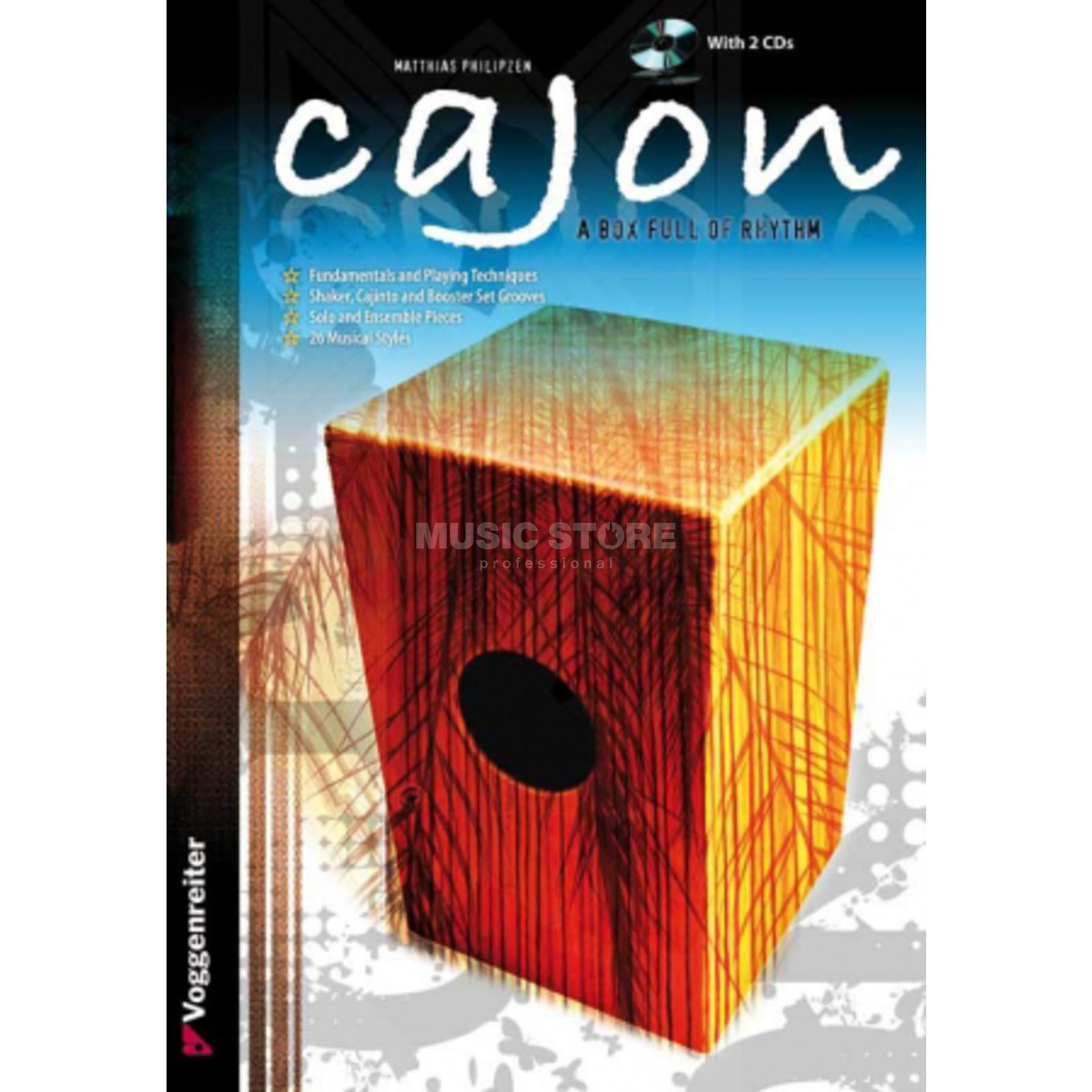 Voggenreiter Cajon Box Rhythm ENGLISH Philipzen, book and 2 CDs Produktbild