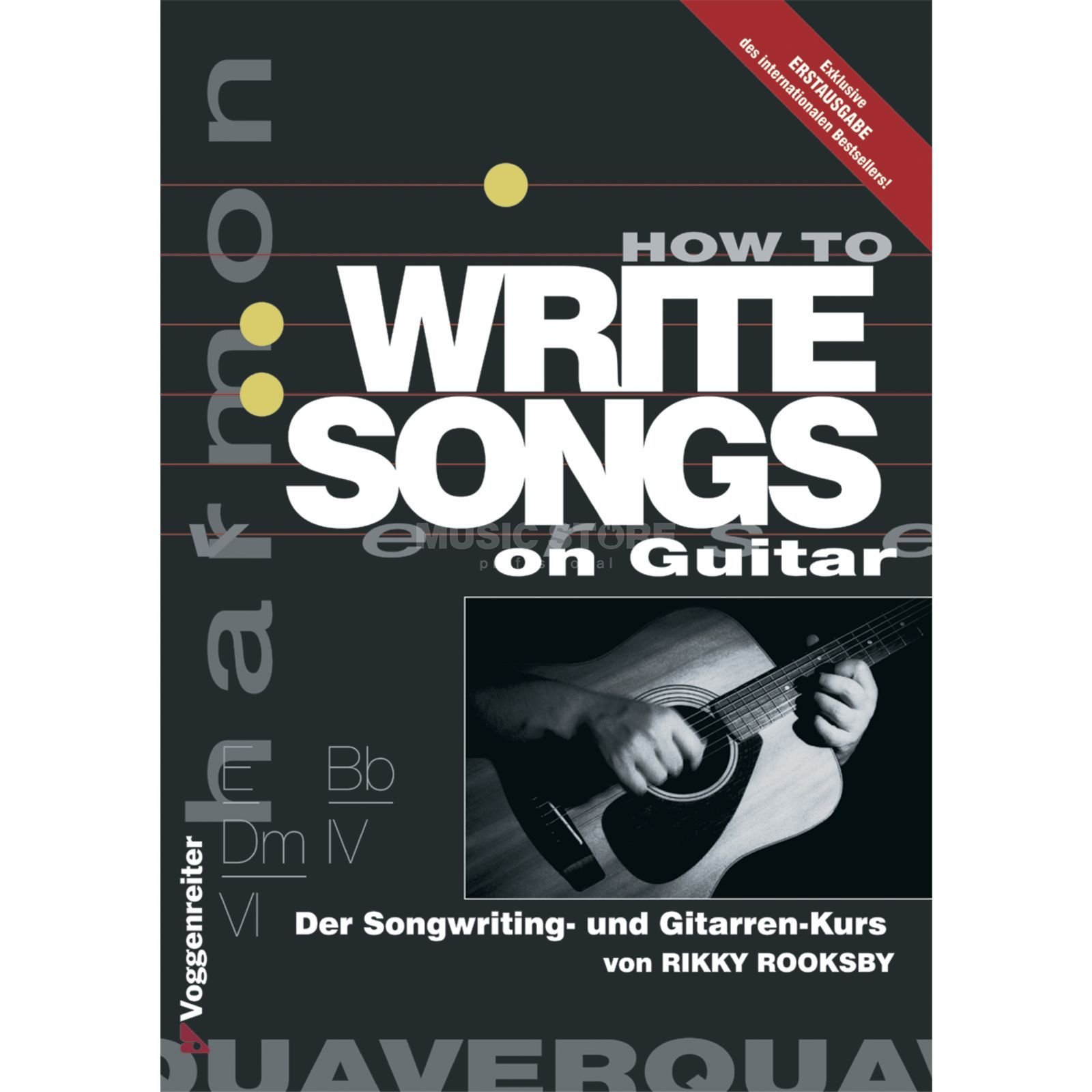 Voggenreiter How to write songs on guitar  Rikky Rooksby Produktbild