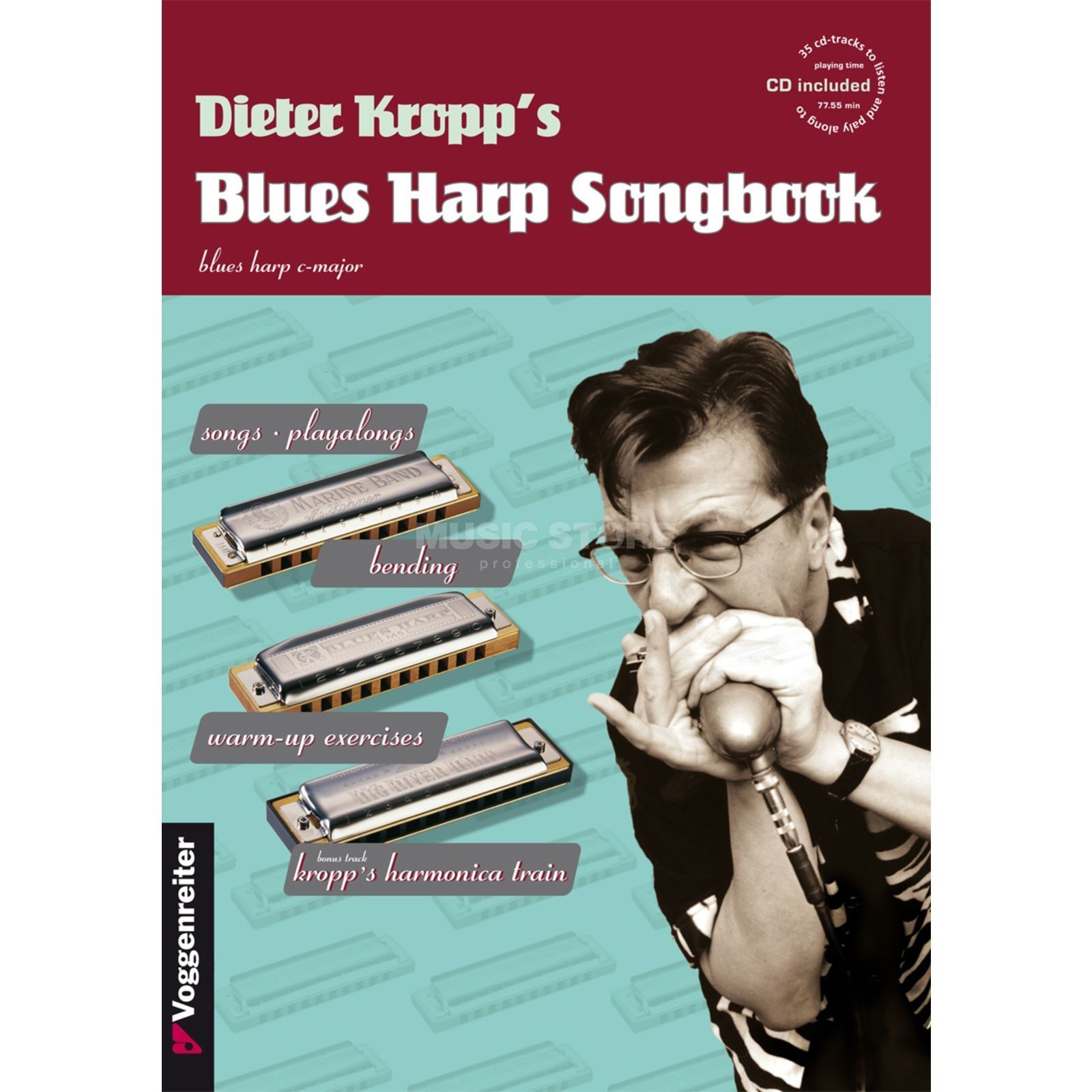 Voggenreiter Kropp's Blues Harp ENGLISH Songbook (CD) Produktbillede