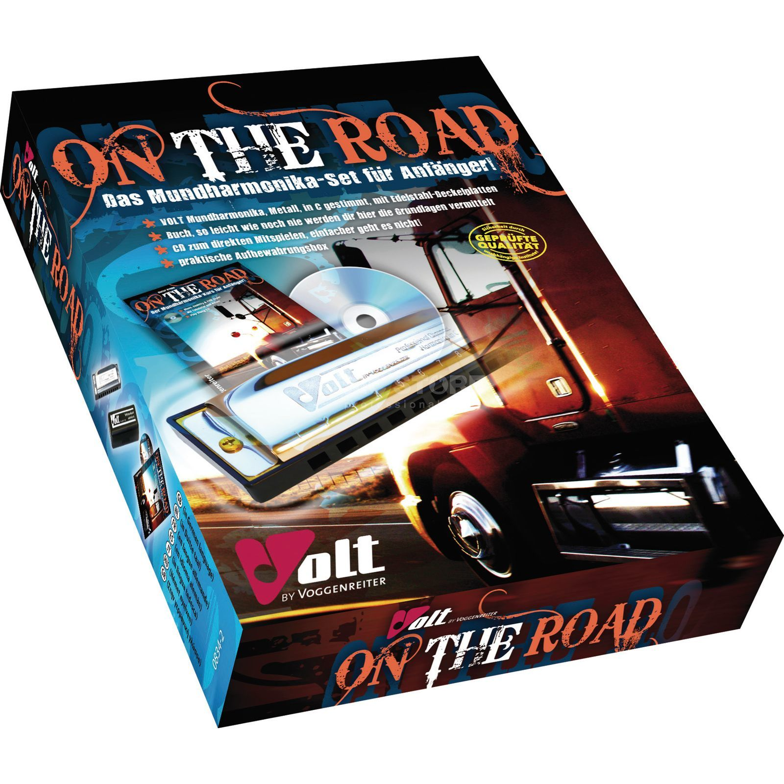 Voggenreiter On the Road Harmonica Set Dieter Kropp, Buch/Muha/CD Image du produit