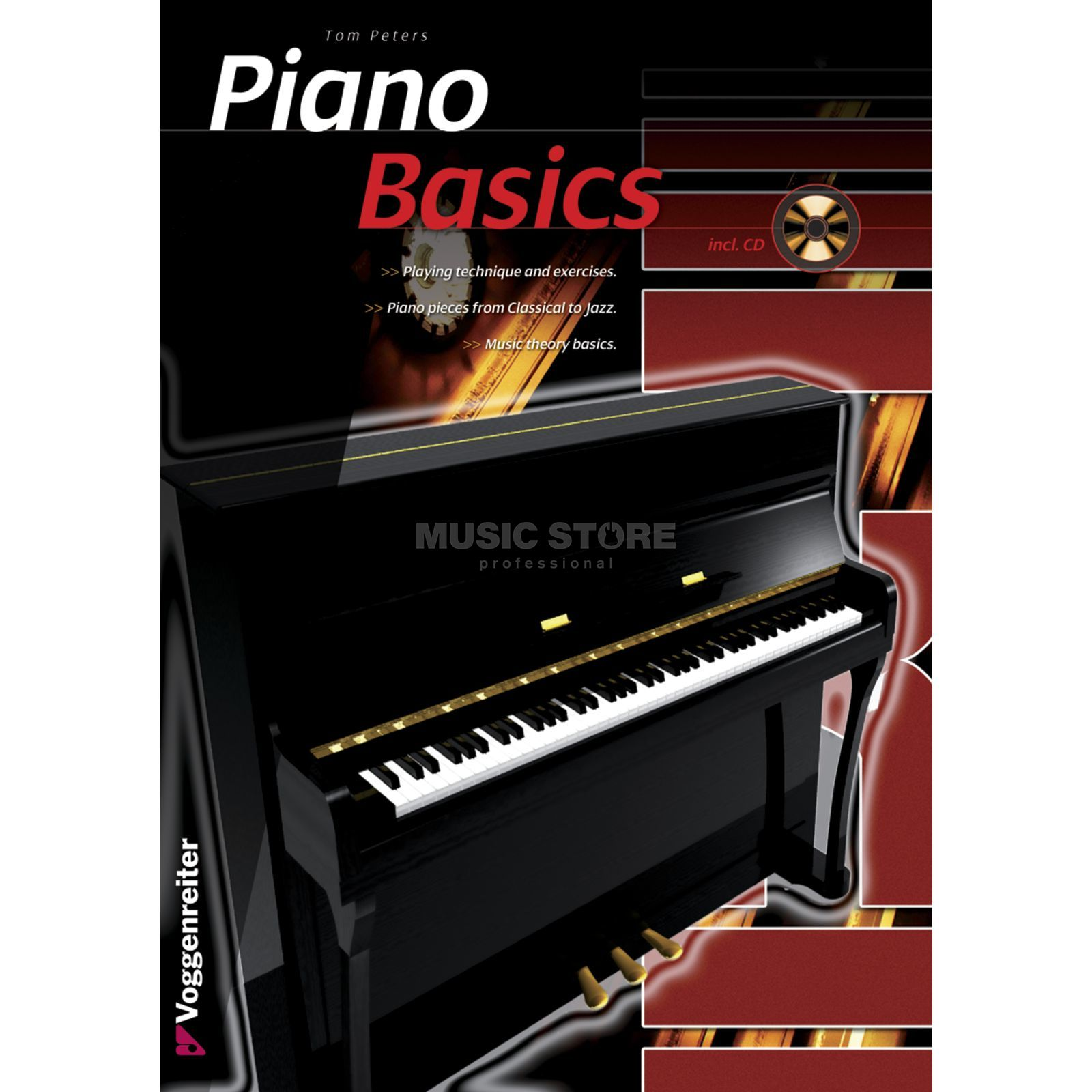 Voggenreiter Piano Basics ENGLISH Peters / primer / incl. CD Produktbillede