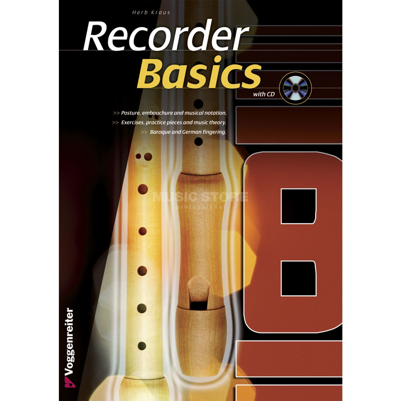 Voggenreiter Recorder Basic ENGLISH Herb Kraus, incl. CD Produktbild