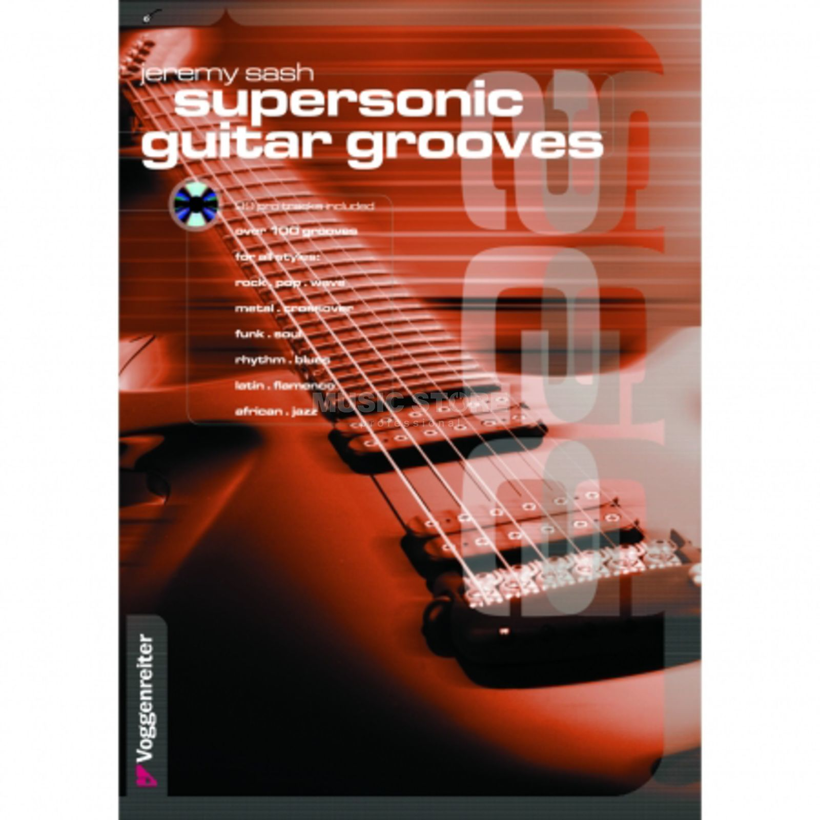 Voggenreiter Supersonic Guitar Grooves ENG Sash, Book & CD Product Image