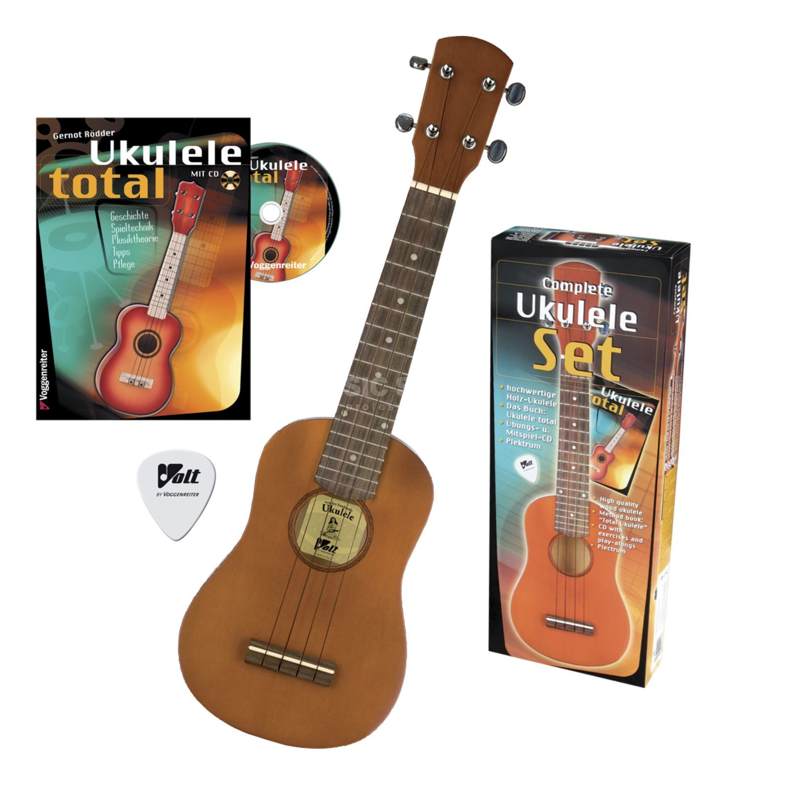 Voggenreiter Ukulelen-Set inkl. Buch with CD & Plektrum Product Image