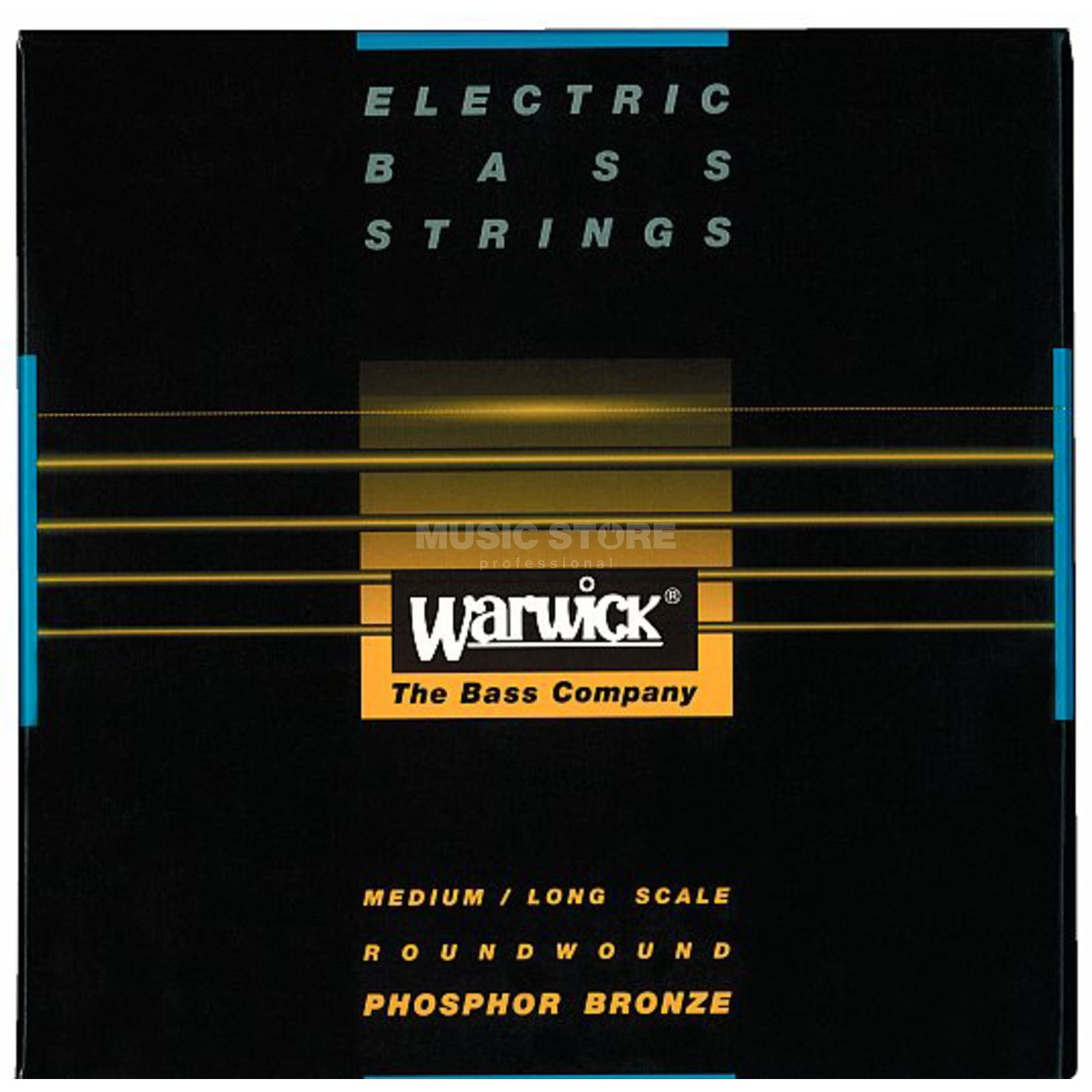 Warwick bas snaren Ak.4-string 45-105 Medium Scale, Phosphor Bronze Productafbeelding