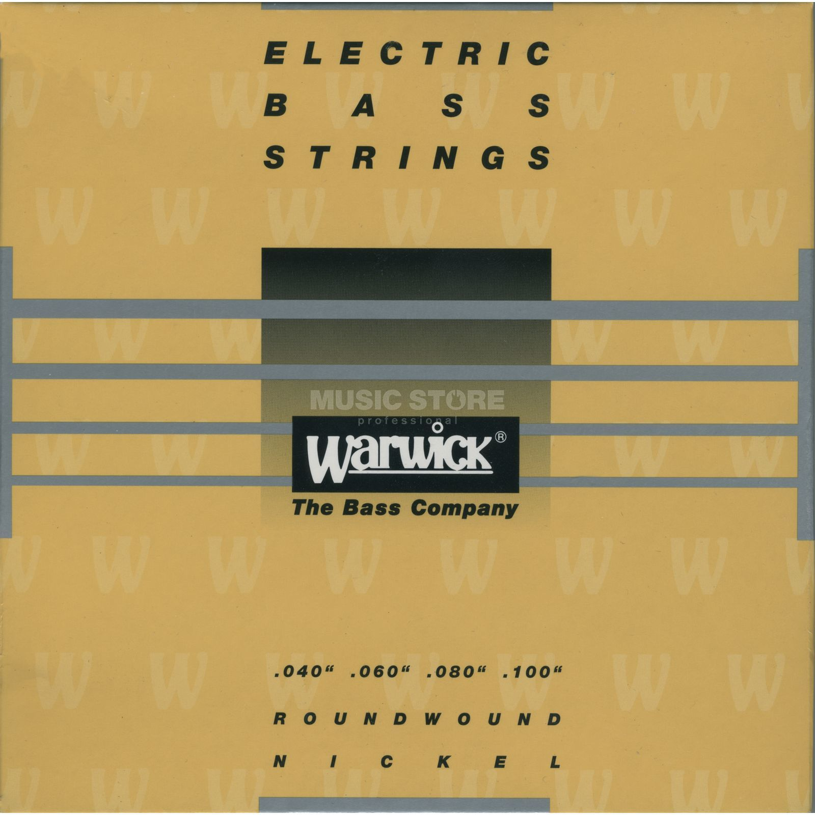 Warwick Bass Strings, 40-100,Yellow 4 String Set, Nickel Strings Zdjęcie produktu