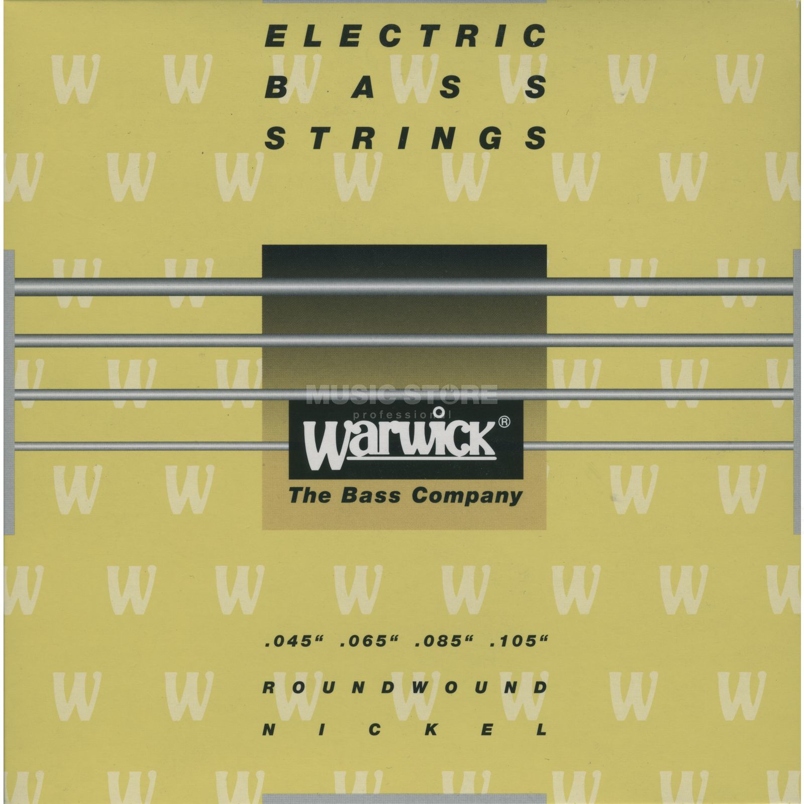 Warwick Bass Strings, 45-105,Yellow 4 String Set, Nickel Strings Produktbillede
