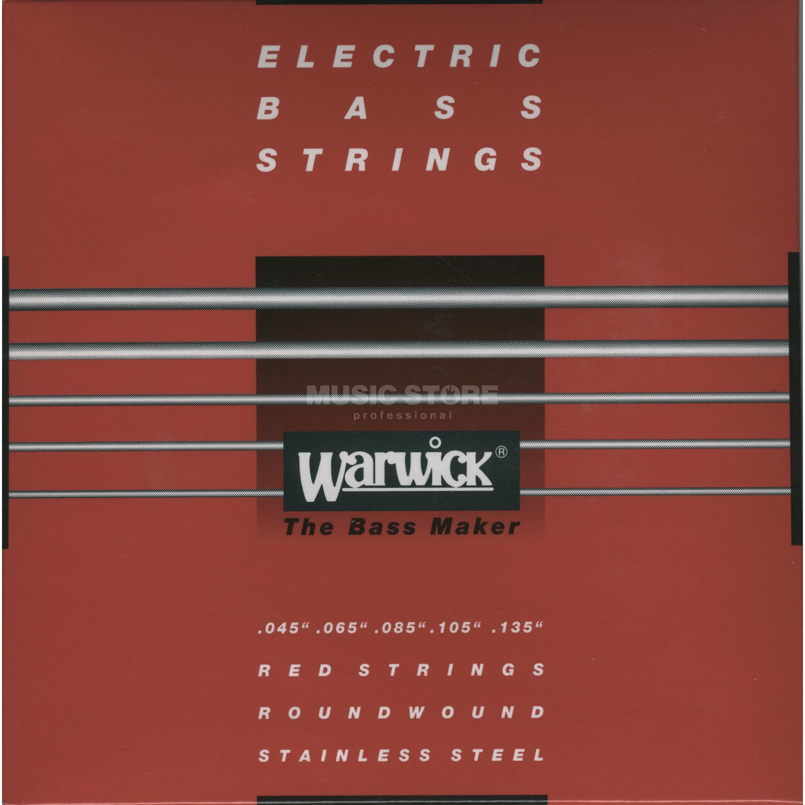 Warwick Bass Strings, 45-135, Red 5 String Set, Stainless Steel Produktbillede
