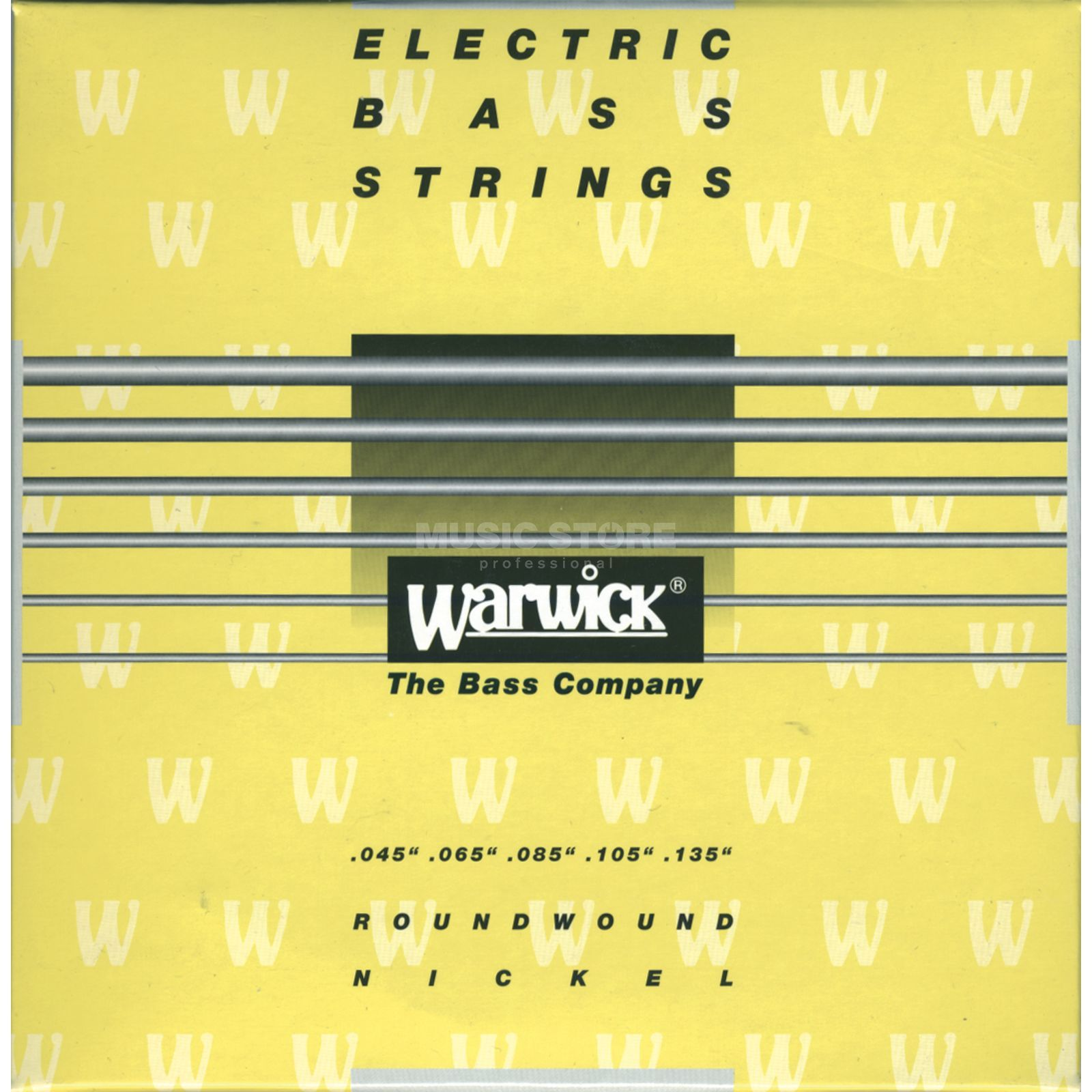 Warwick Bass Strings, 45-135, Yellow 5 String Set, Nickel Strings Produktbillede