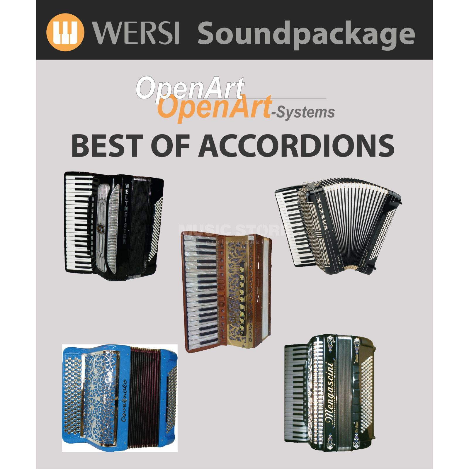 Wersi Best of Accordions (4003085) Soundpackage for OAS Produktbillede
