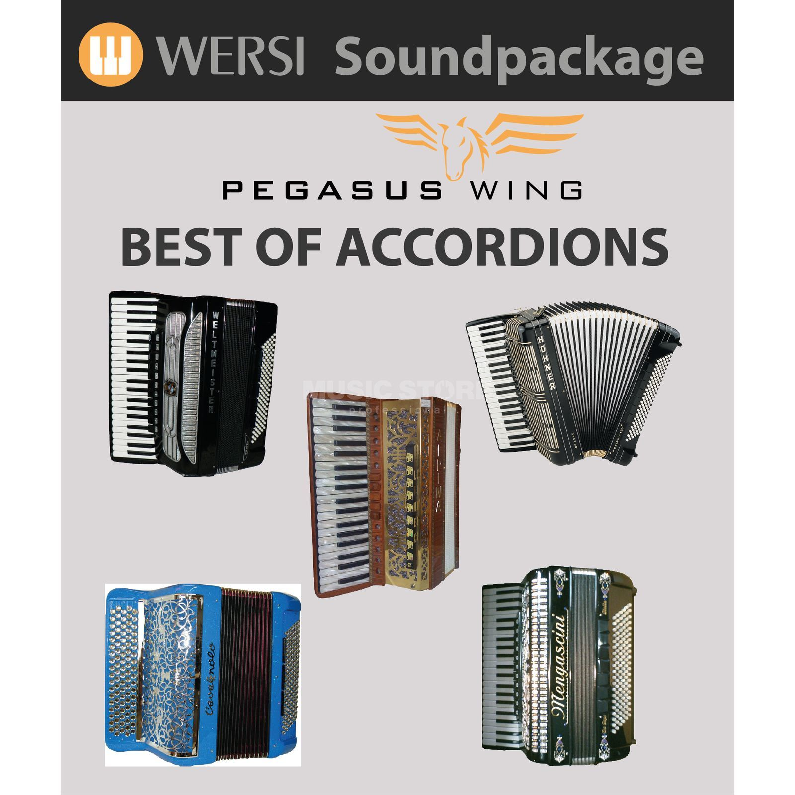 Wersi Best of Accordions Soundpackage für Pegasus Wing Produktbild