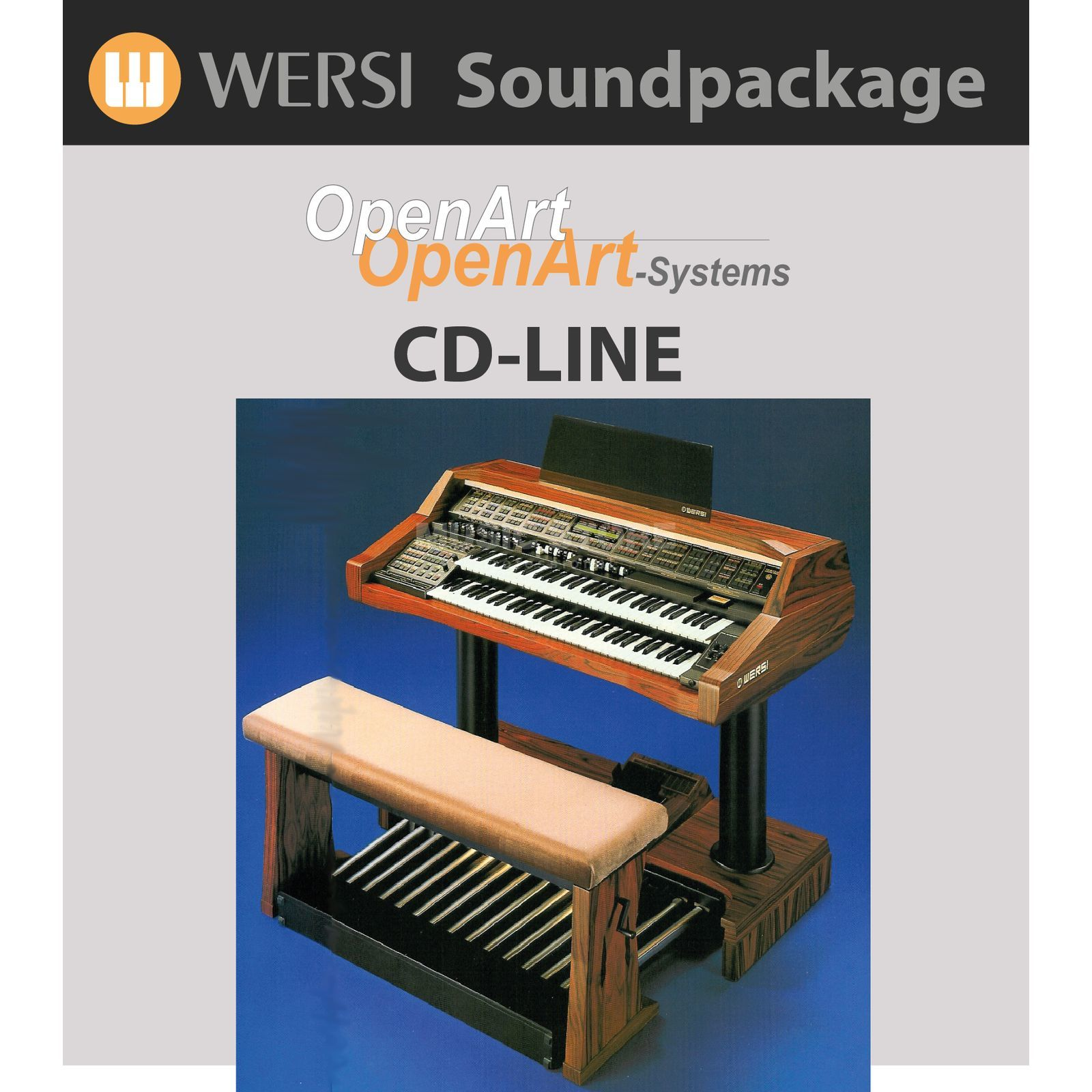 Wersi CD Line Sounds (4003300) Soundpackage for OAS Produktbillede