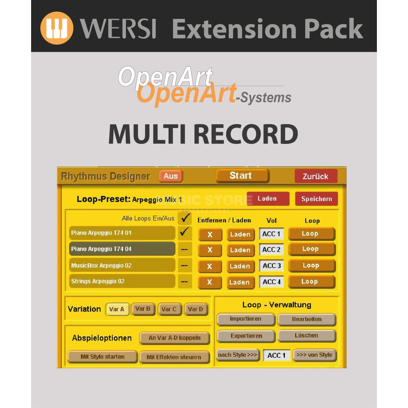 Wersi MultiRecord Software (4003220) for OAS Produktbillede