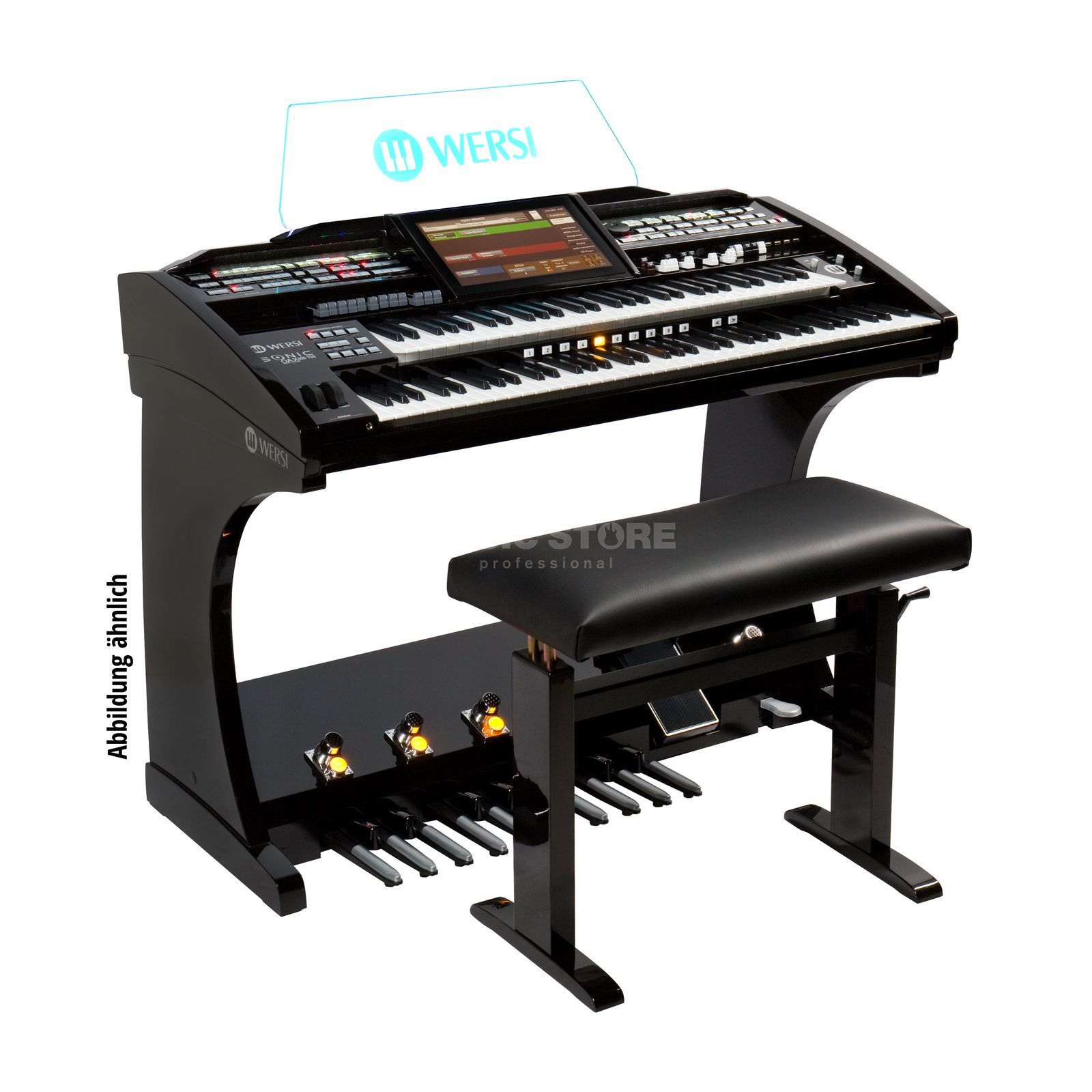 Wersi SONIC OAX600 LS Black High-Gloss Product Image