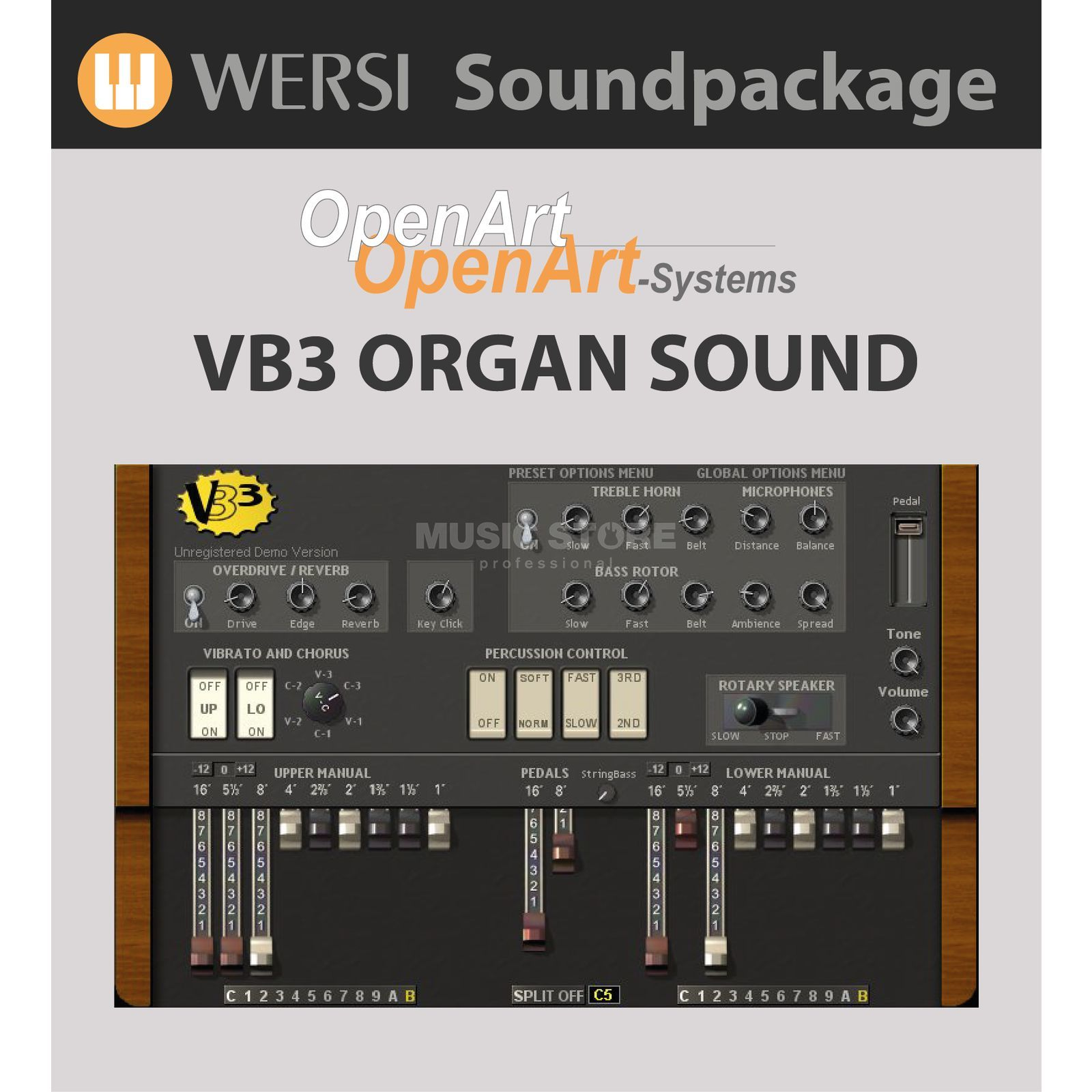 Wersi VB3 Hammond Emulation Sound Package for OAS Produktbillede