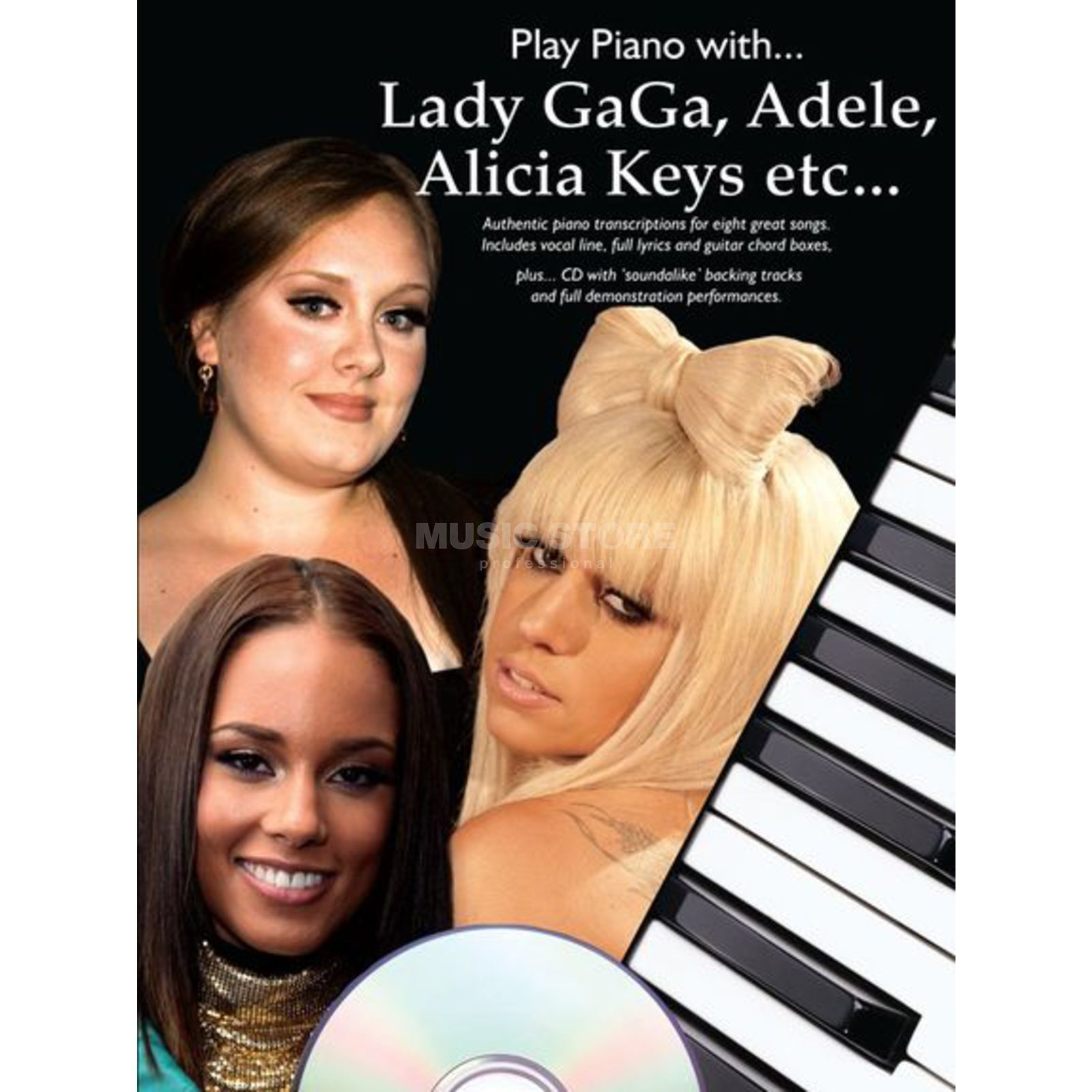 Wise Publications Adele, Keys, Gaga etc. Play Piano with... PVG Produktbillede