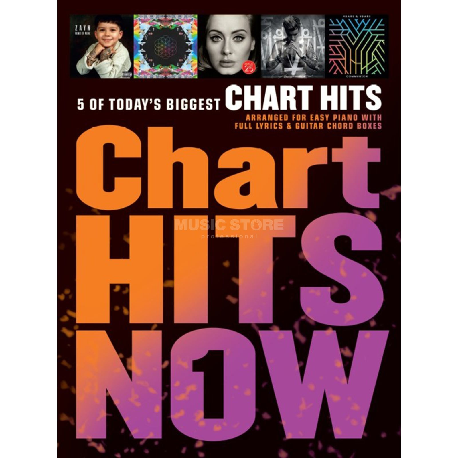 Wise Publications Chart Hits Now - Volume 1 Easy Piano/Lyrics & Chords Produktbild