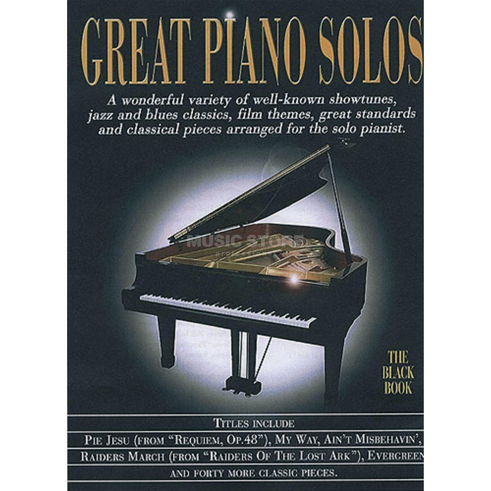 Wise Publications Great Piano Solos - Black Book Piano Produktbillede