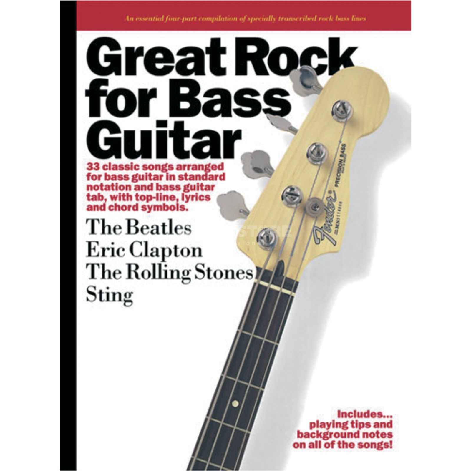 Wise Publications Great Rock for Bass Guitar Bass TAB Produktbillede