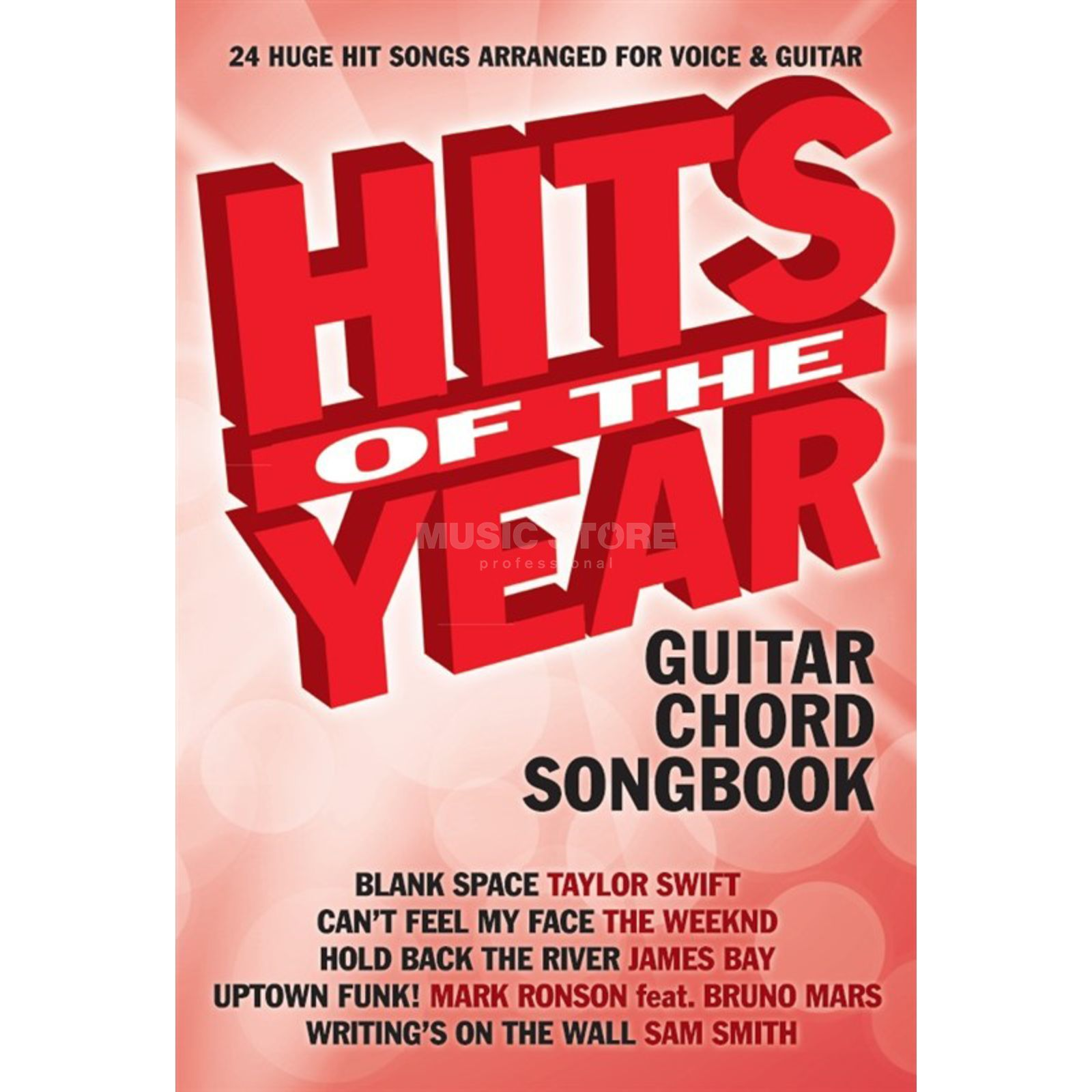 Wise Publications Hits Of The Year 2015 - Guitar Chord Songbook Produktbild