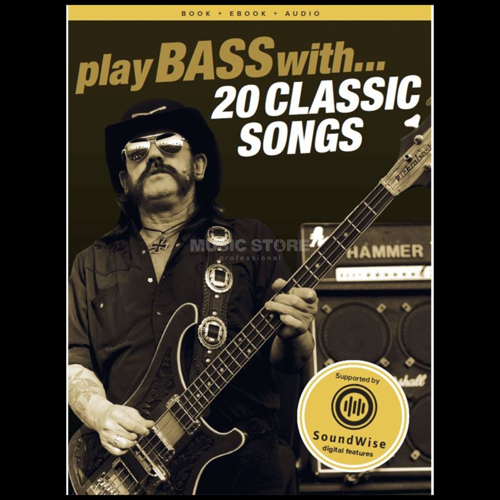 Wise Publications Play Bass With: 20 Classic Songs Bass TAB/CD Produktbild