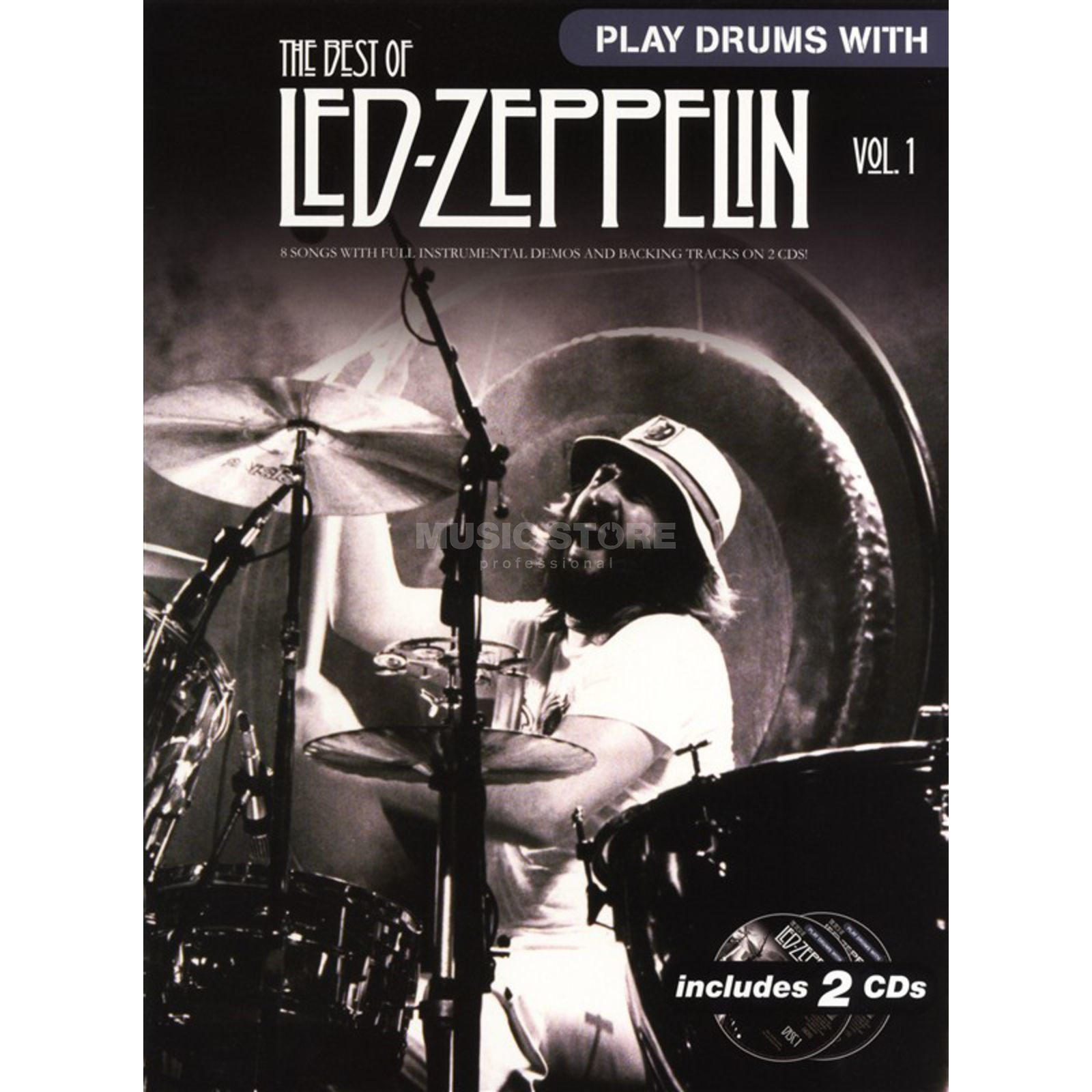 Wise Publications Play Drums With: Led Zeppelin 1 inkl. CD Produktbillede