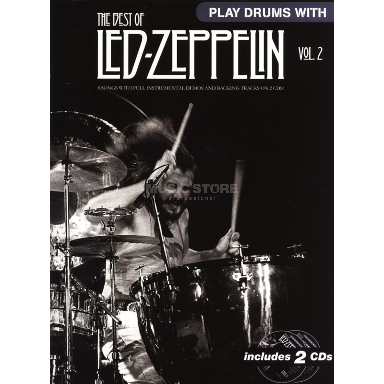 Wise Publications Play Drums With: Led Zeppelin 2 inkl. CD Produktbillede