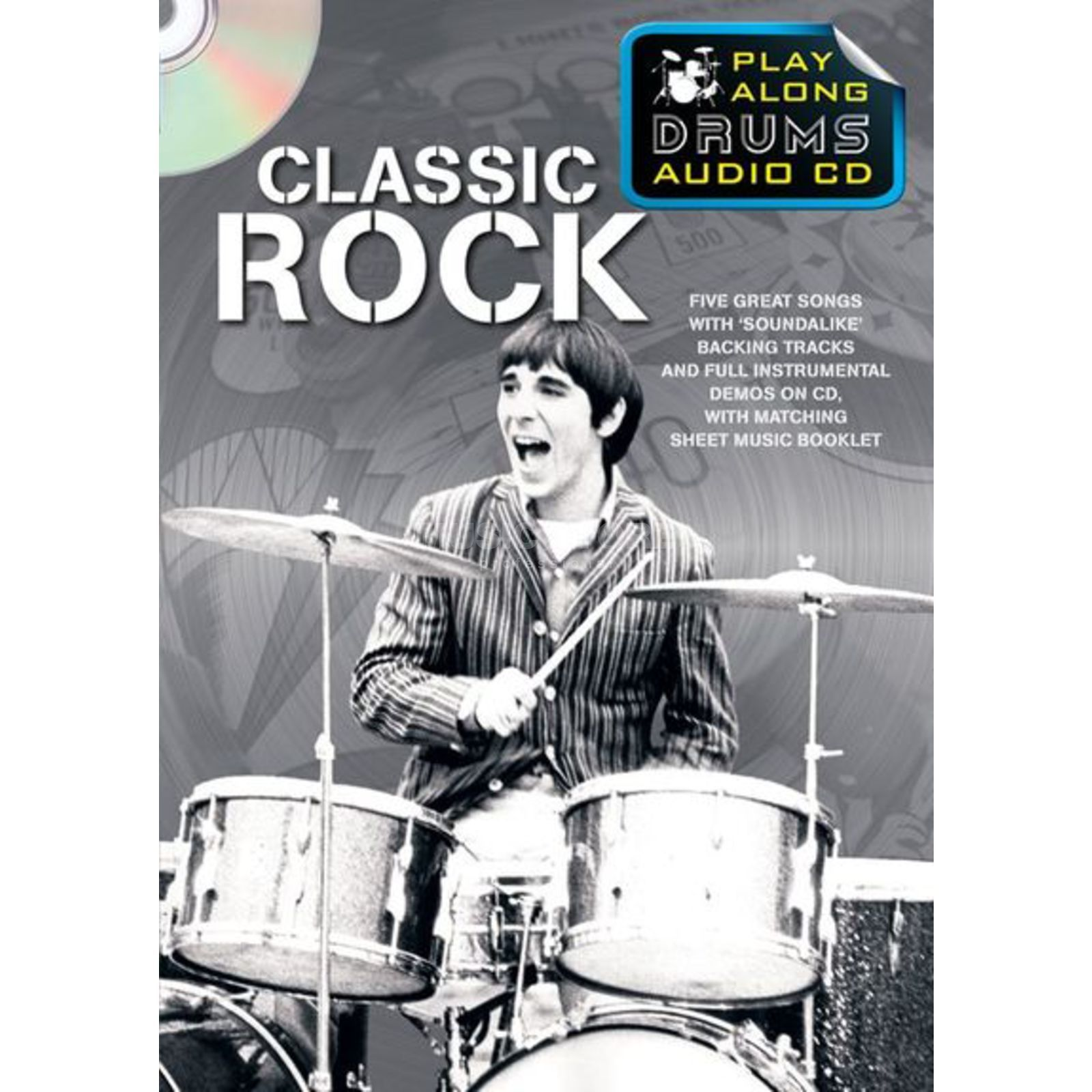 Wise Publications Playalong Drums - Classic Rock Schlagzeugnoten und CD Produktbild