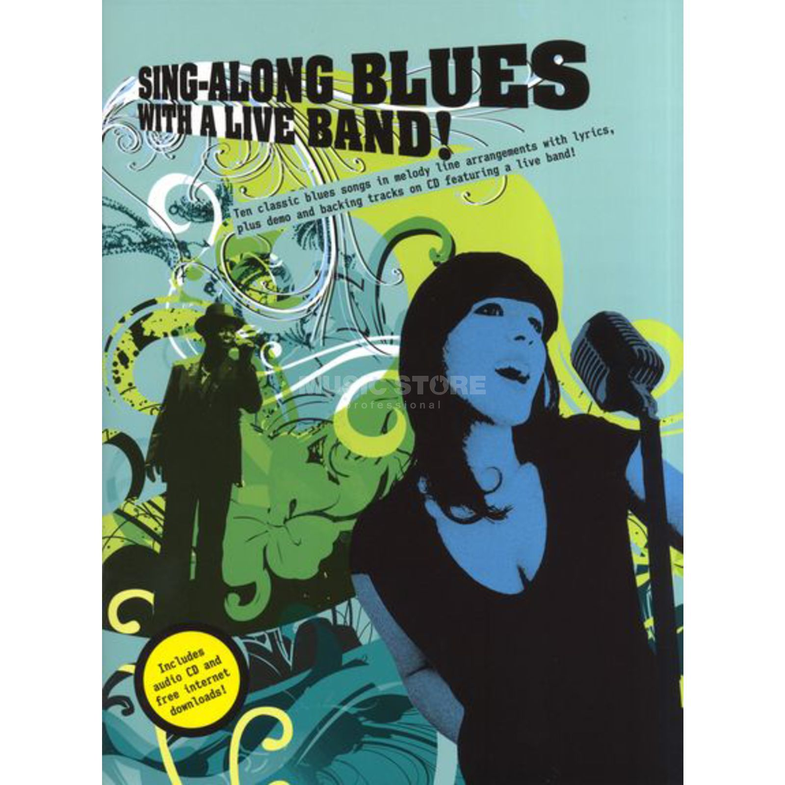 Wise Publications Sing-Along Blues With Liveband Book and CD Produktbillede