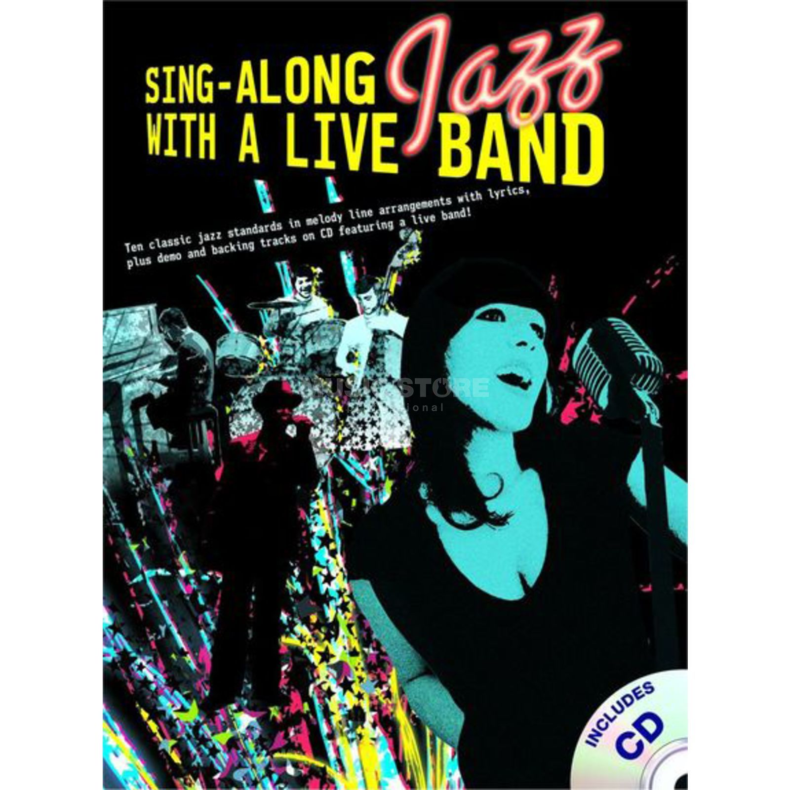 Wise Publications Sing-Along Jazz With Liveband Book and CD Produktbillede