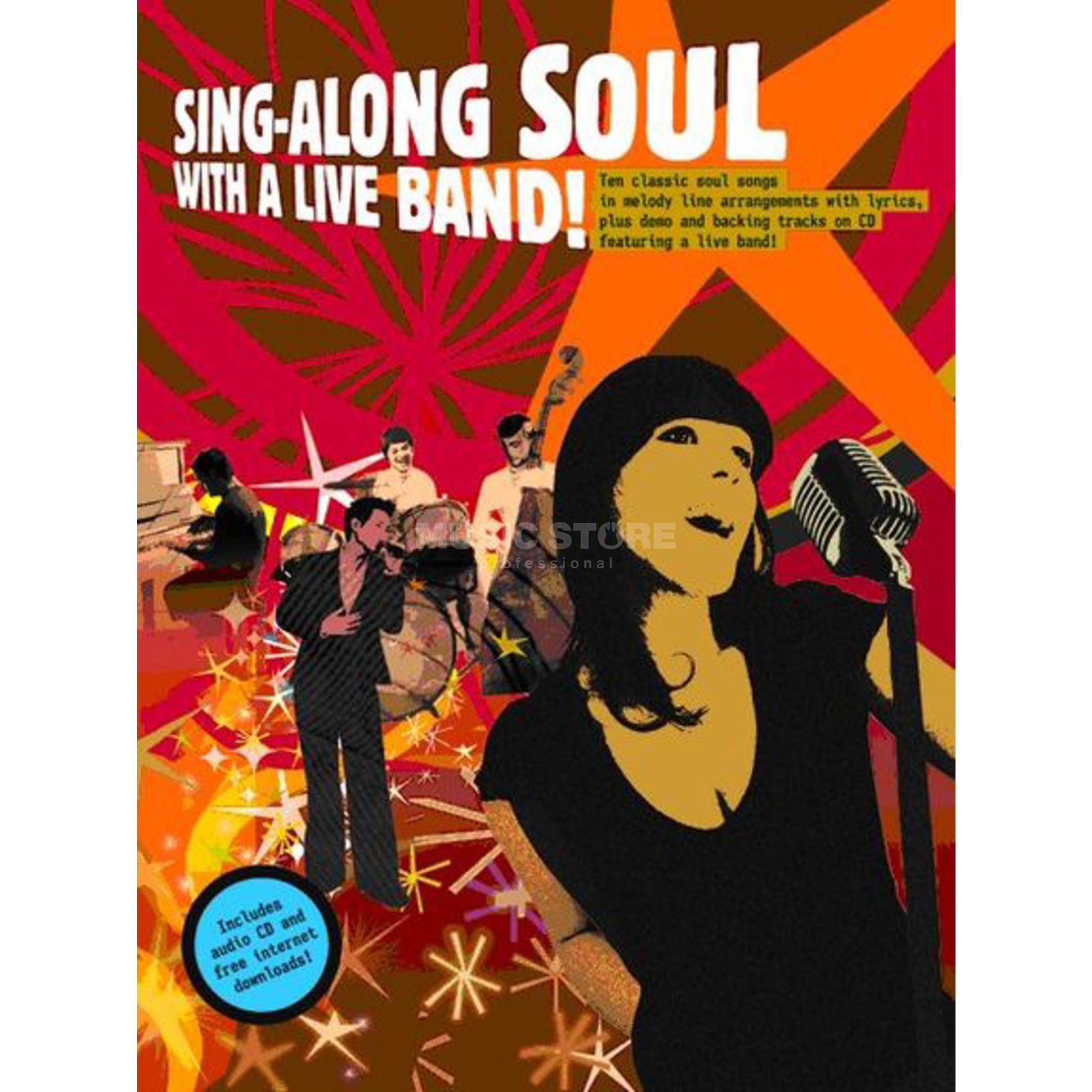 Wise Publications Sing-Along Soul With Liveband Book and CD Produktbillede