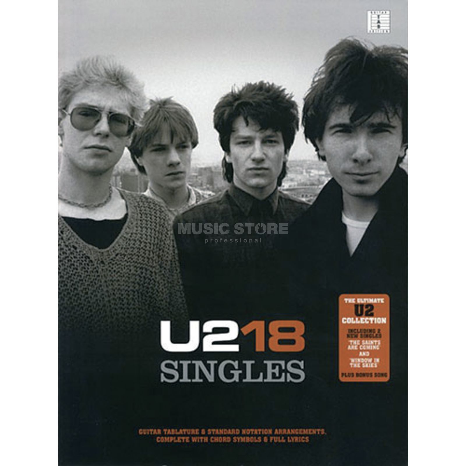Wise Publications U2 - 18 Singles TAB Productafbeelding