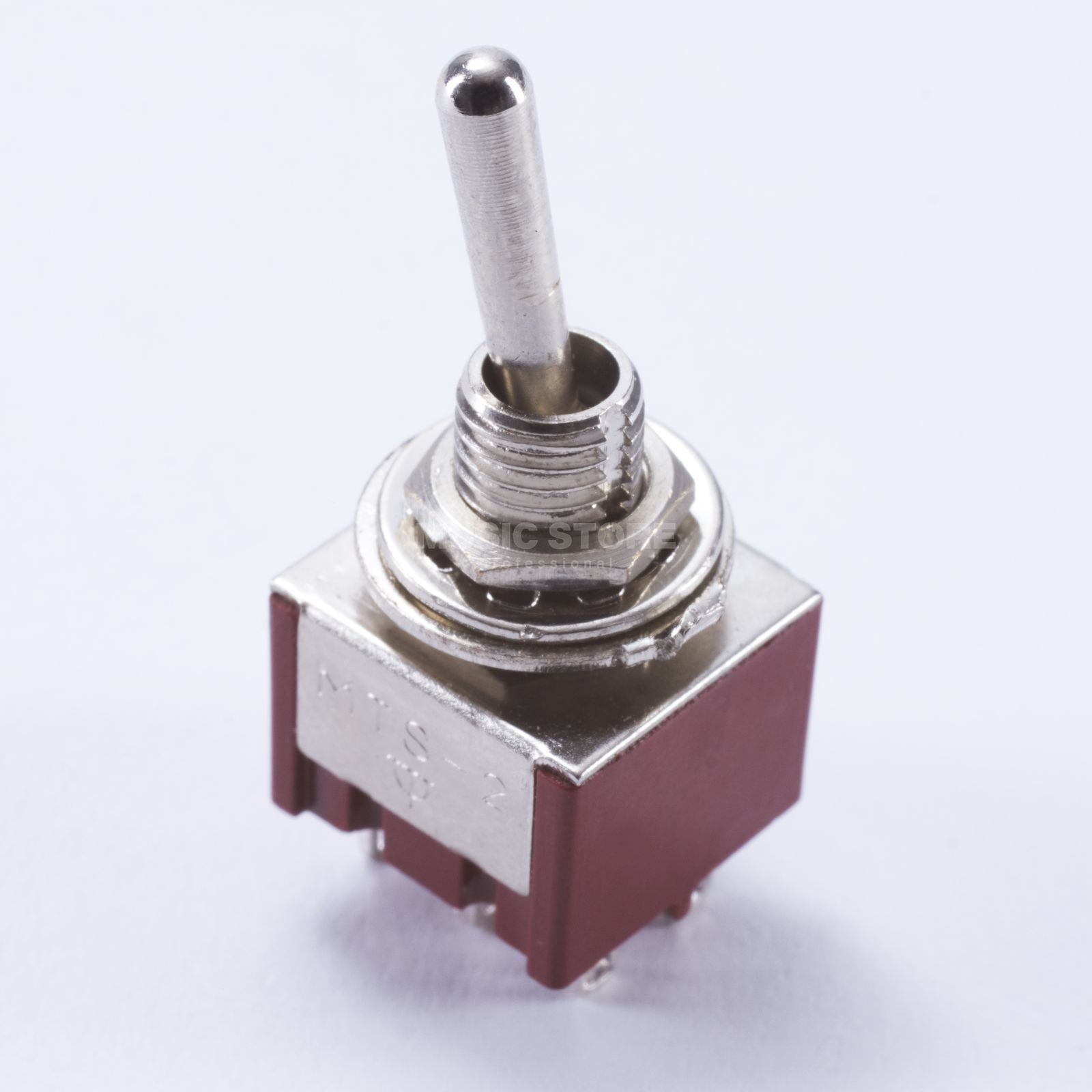 WSC Partsland M205 mini Switch on-on 6 pin, chrom Produktbillede