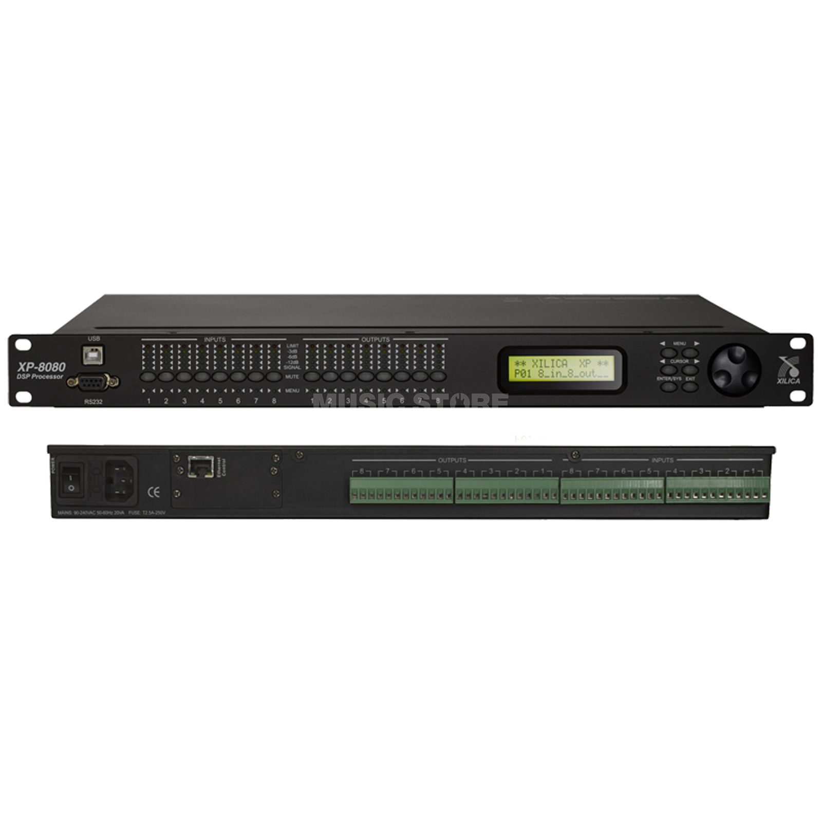 Xilica XP-8080,8IN, 8OUT, Lautsprechermanagement Produktbild