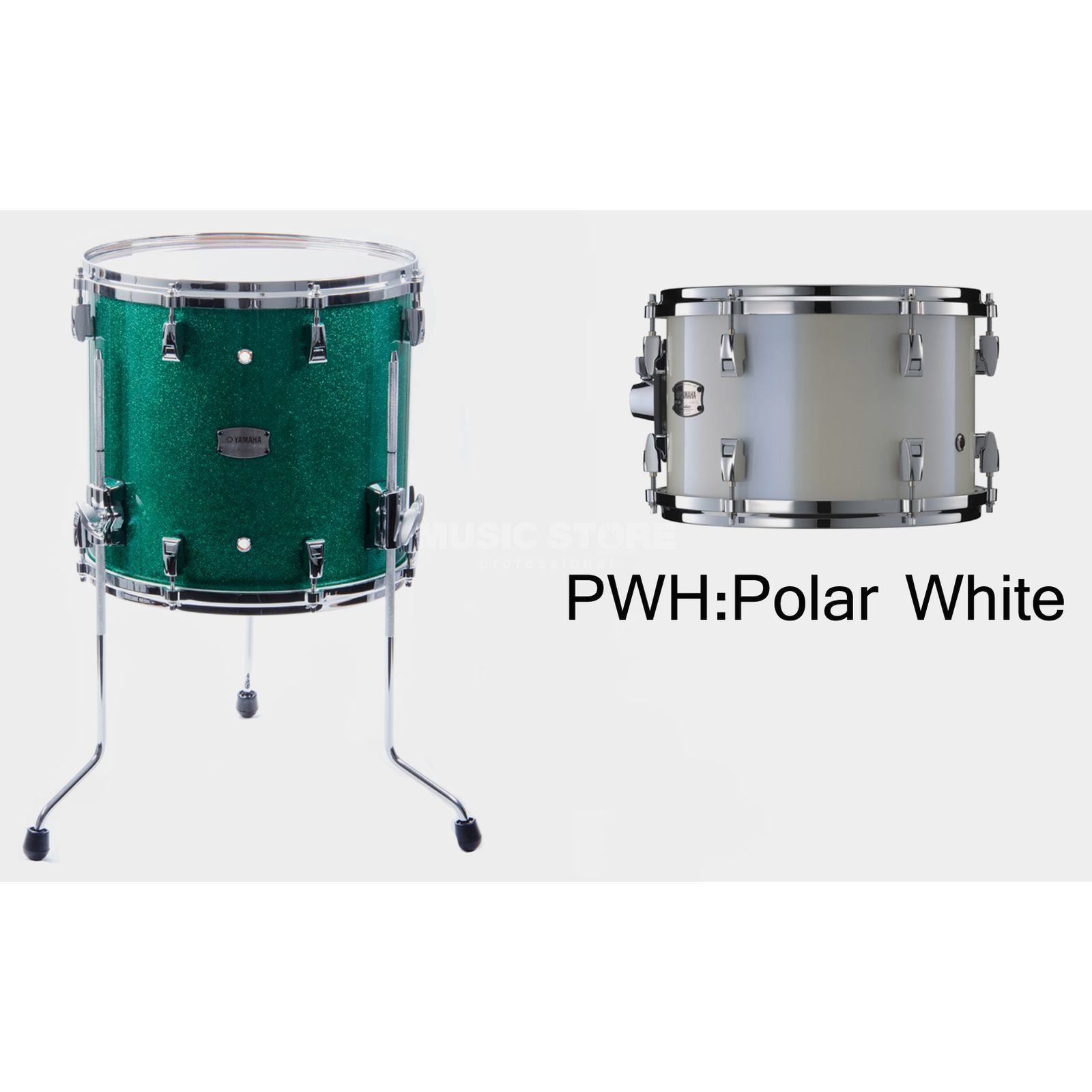 "Yamaha Absolute Maple Hybrid FloorTom 16""x15"", Polar White #PWH Produktbillede"