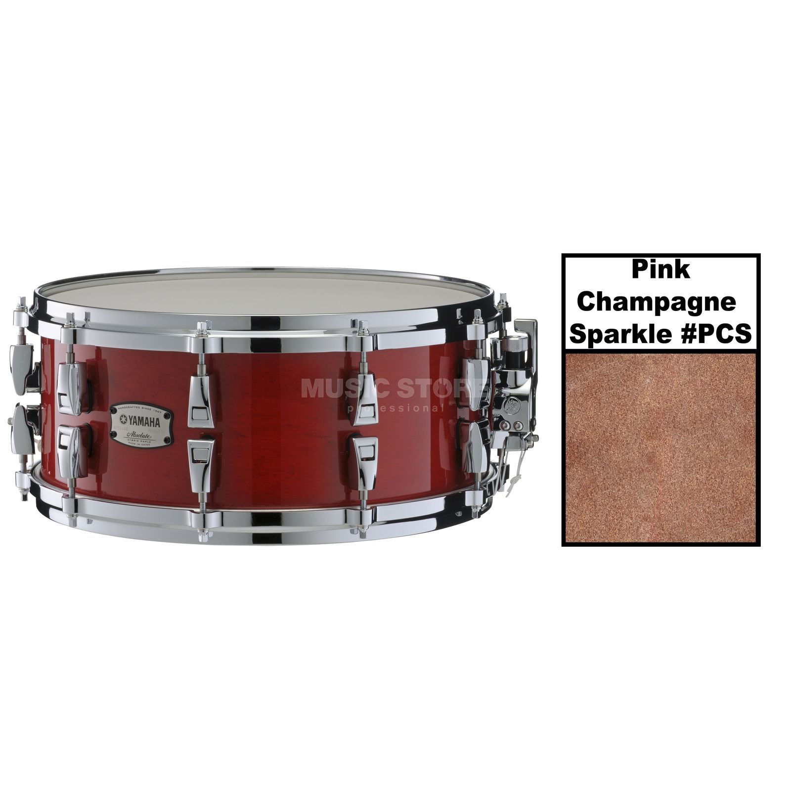 "Yamaha Absolute Maple Hybrid Snare 14""x6, Pink Champagne Sparkle Produktbild"