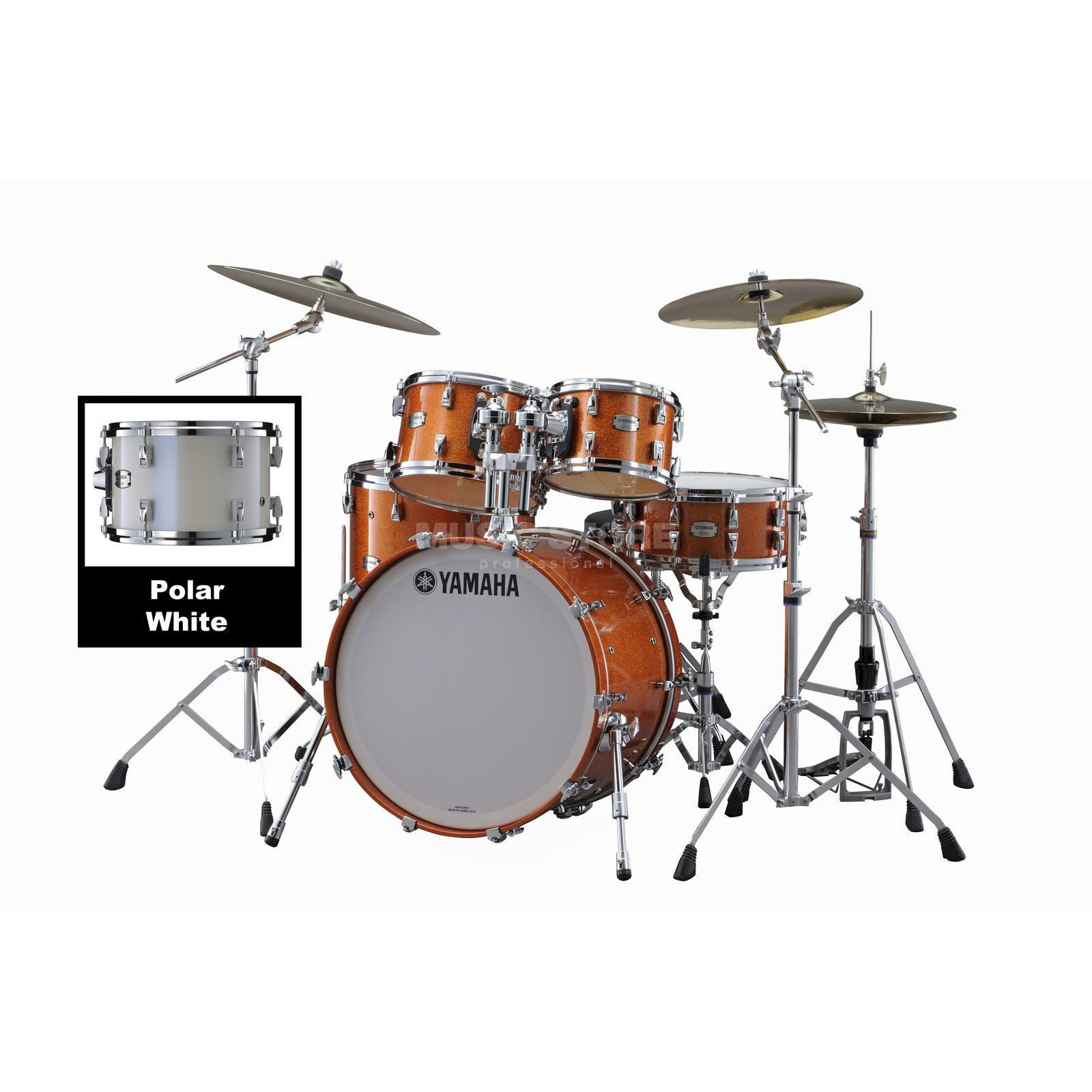 Yamaha Absolute Maple Hybrid Studio Polar White #PWH Produktbild