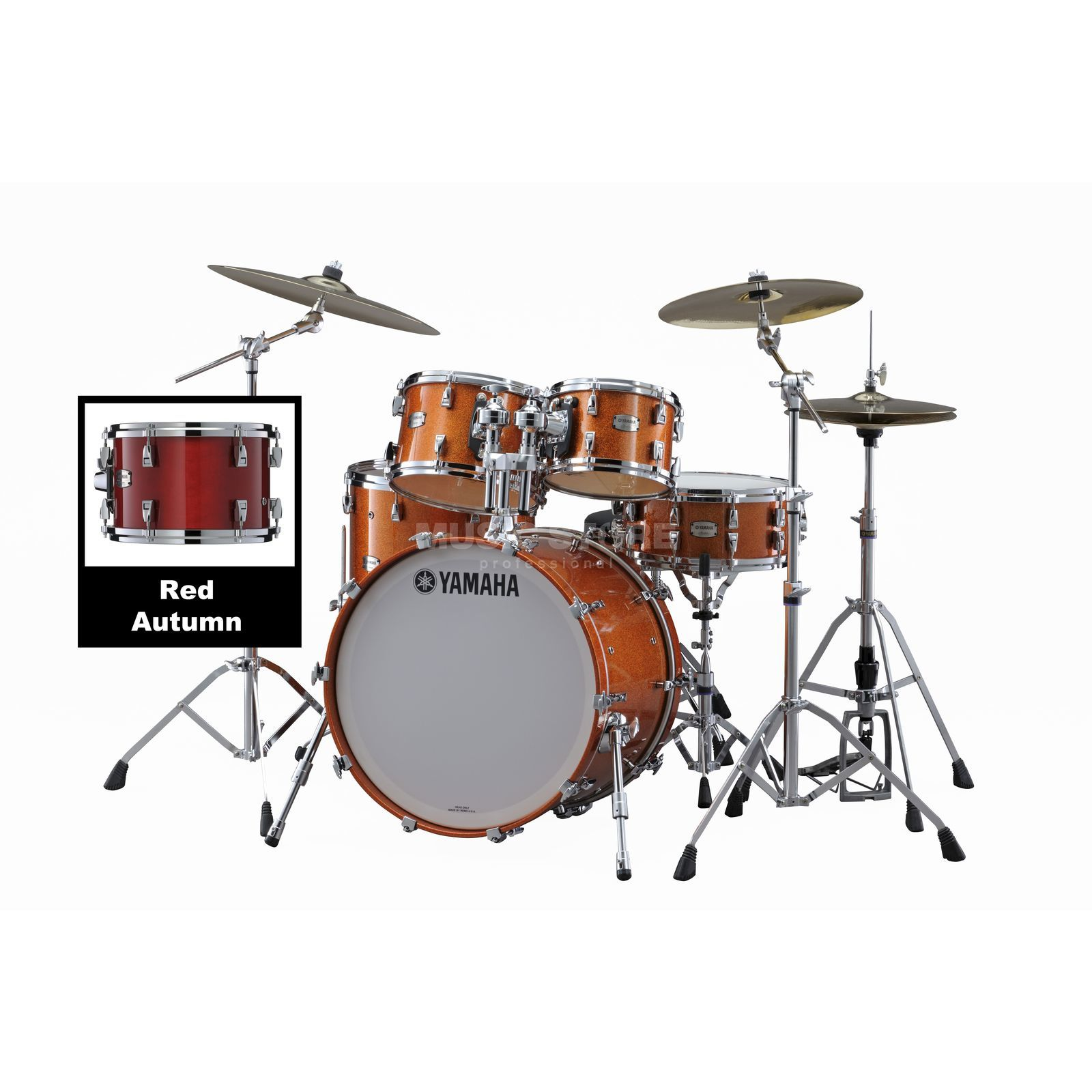 Yamaha Absolute Maple Hybrid Studio Red Autumn #RAU Produktbillede