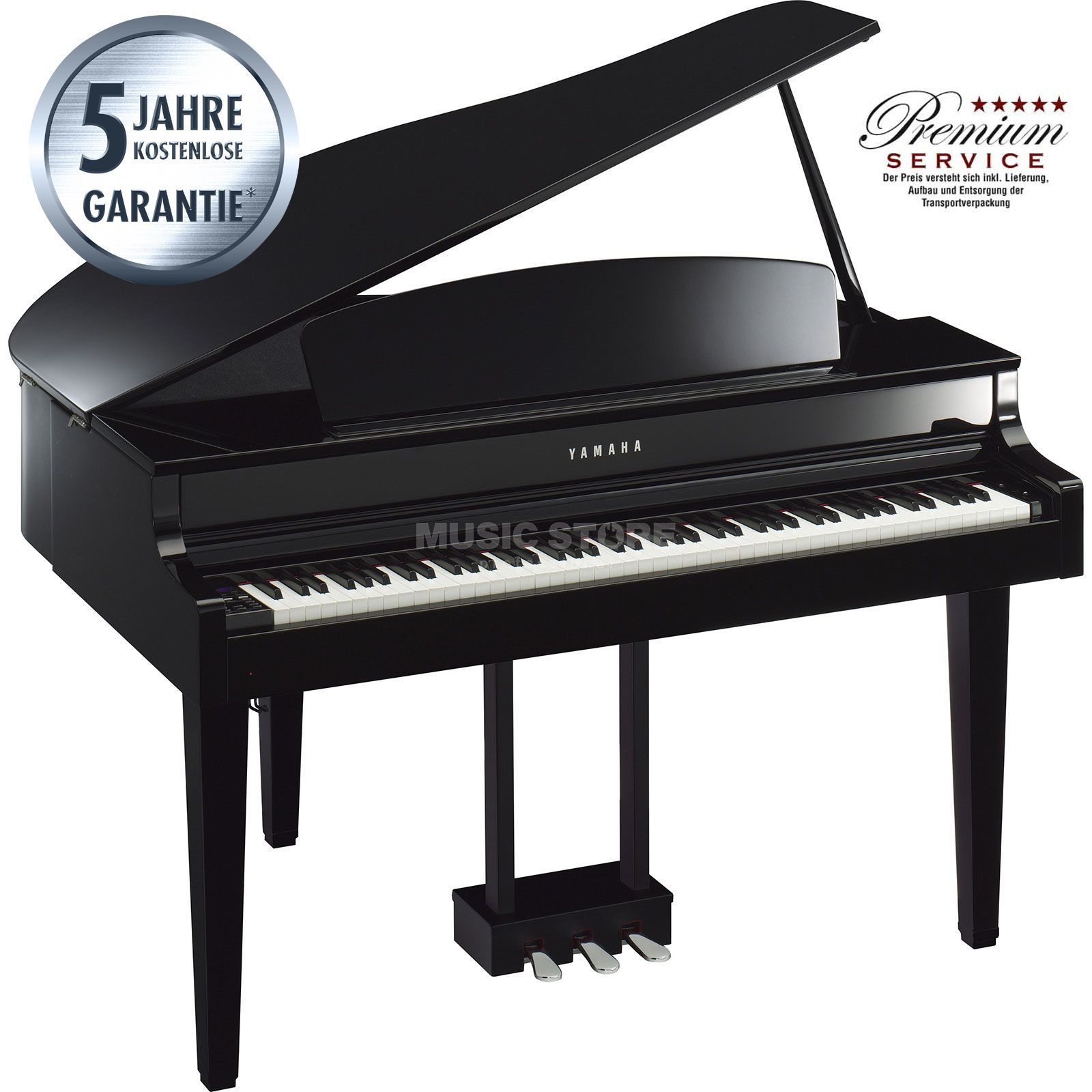 Yamaha Clavinova CLP-565 GP PE Digital Grand Piano Black Image du produit
