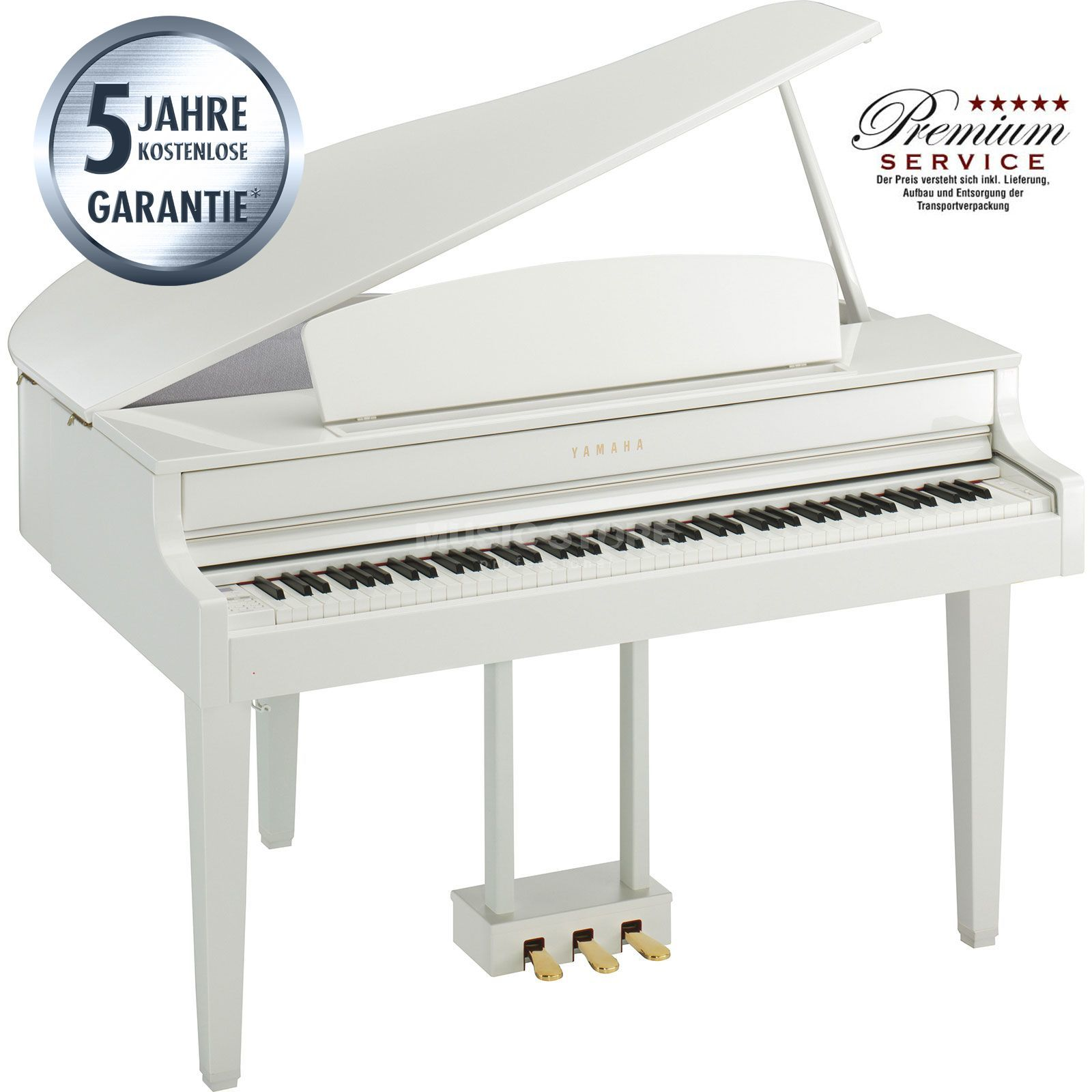 Yamaha Clavinova CLP-565 GP WH Digital Grand Piano White Produktbillede