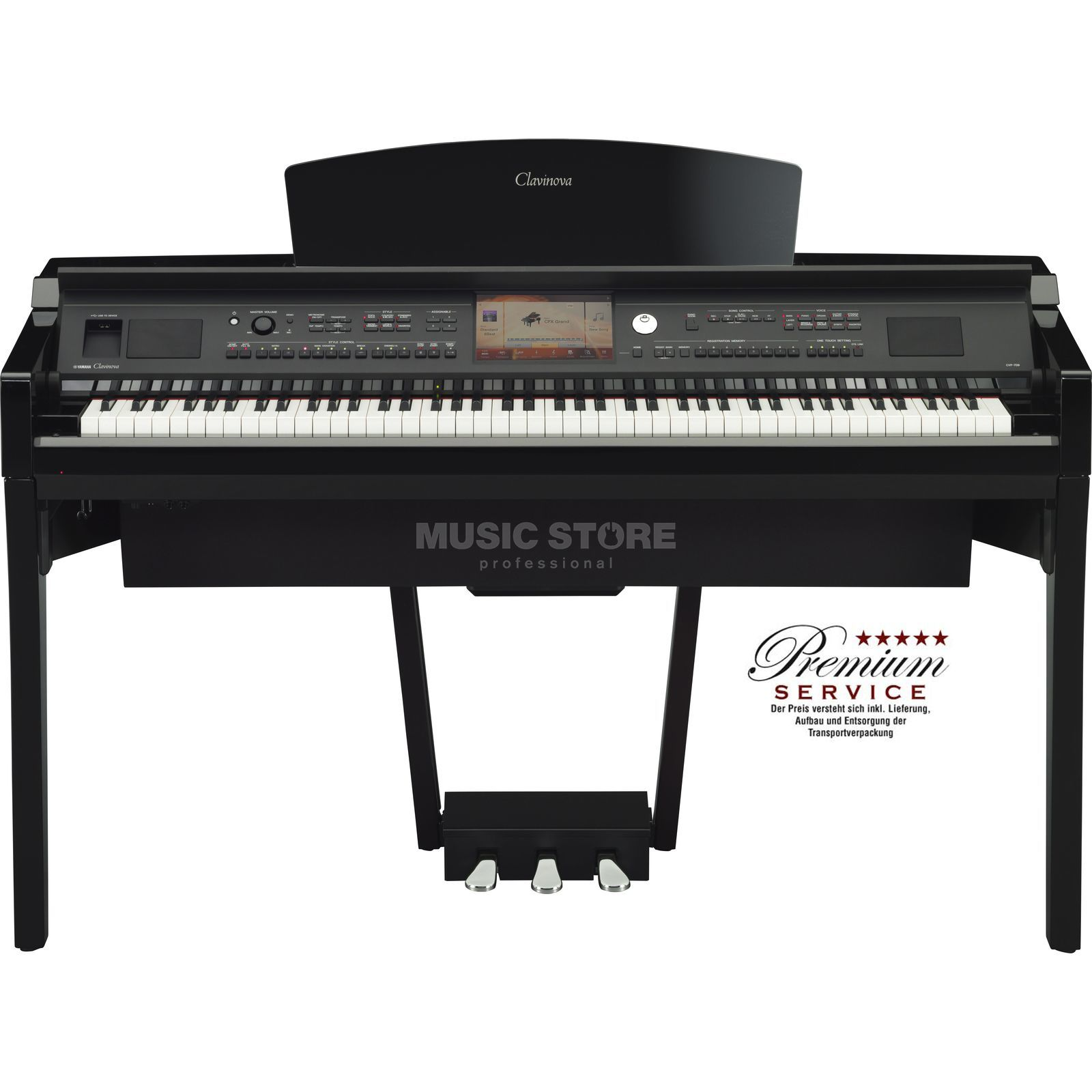 Yamaha CVP 709-PE Digital Piano Polished Ebony Product Image