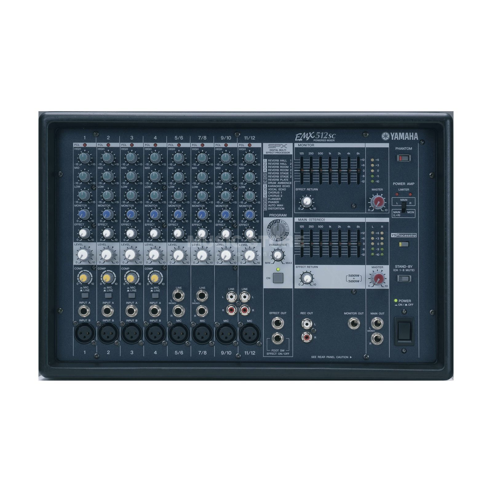 Yamaha emx 512 sc table amplifi e 2x 500 watts - Table de mixage amplifiee yamaha ...