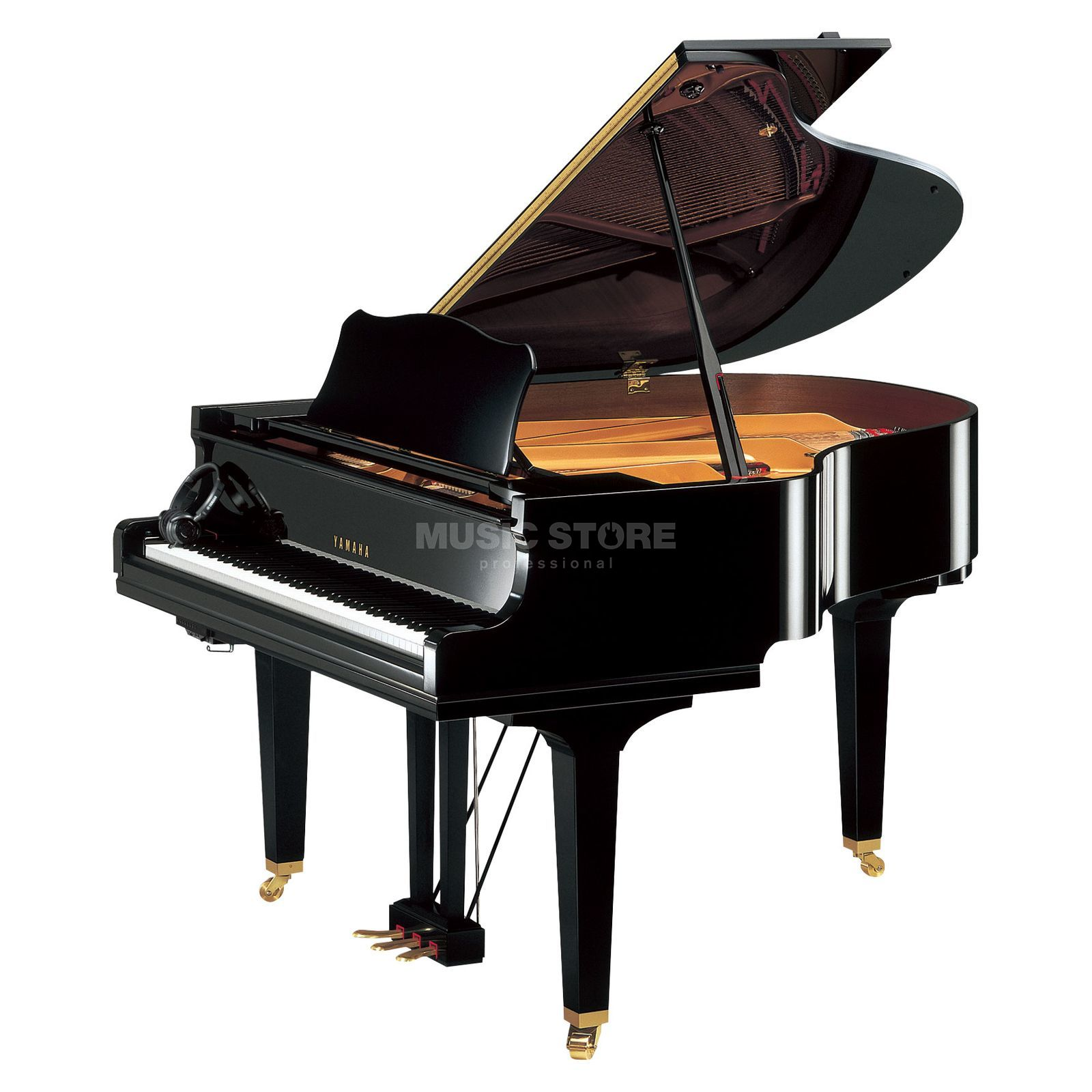 Yamaha GC1 SH Silent Grand 161  Black polished Produktbillede