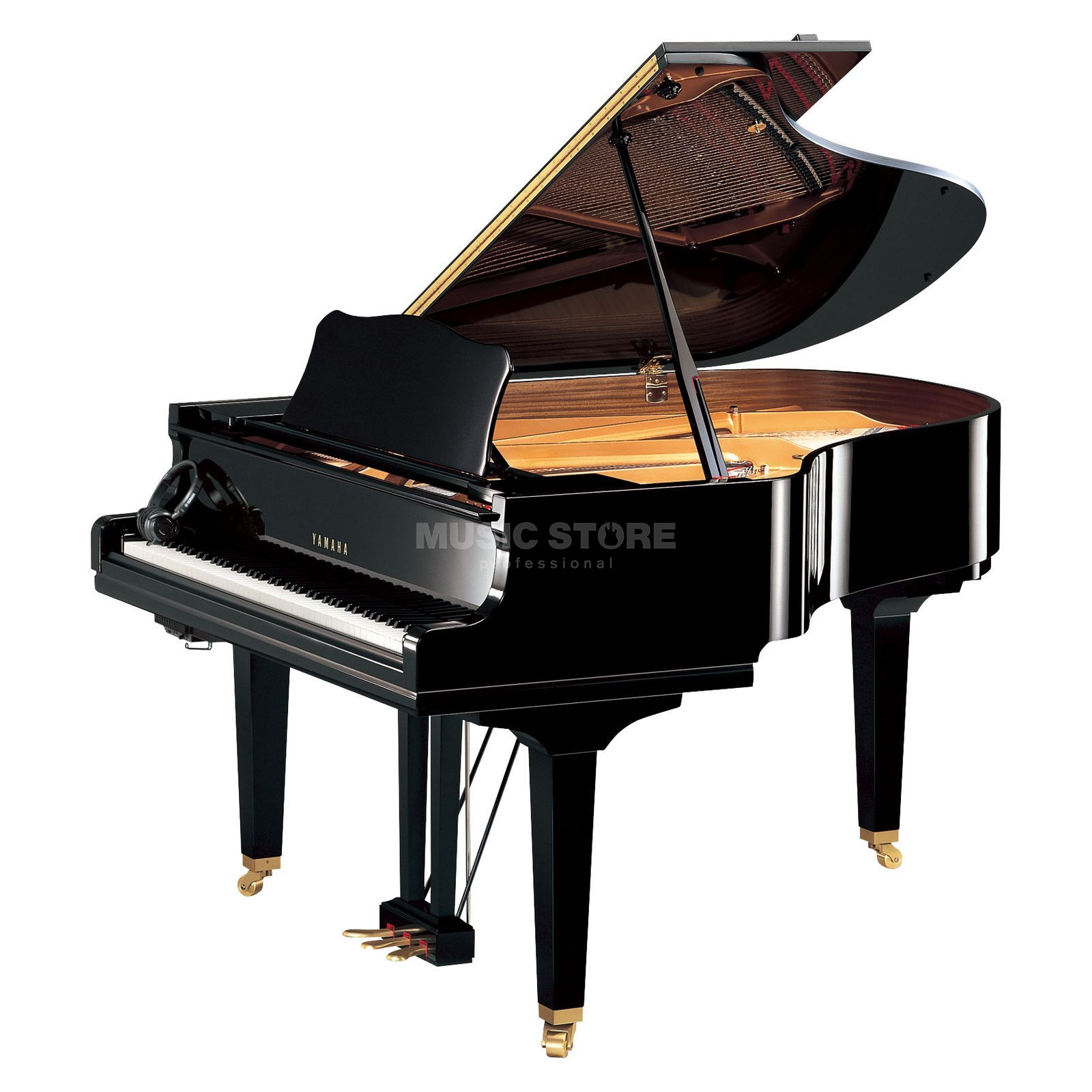 Yamaha GC2 SH Silent Grand Black polished Produktbillede